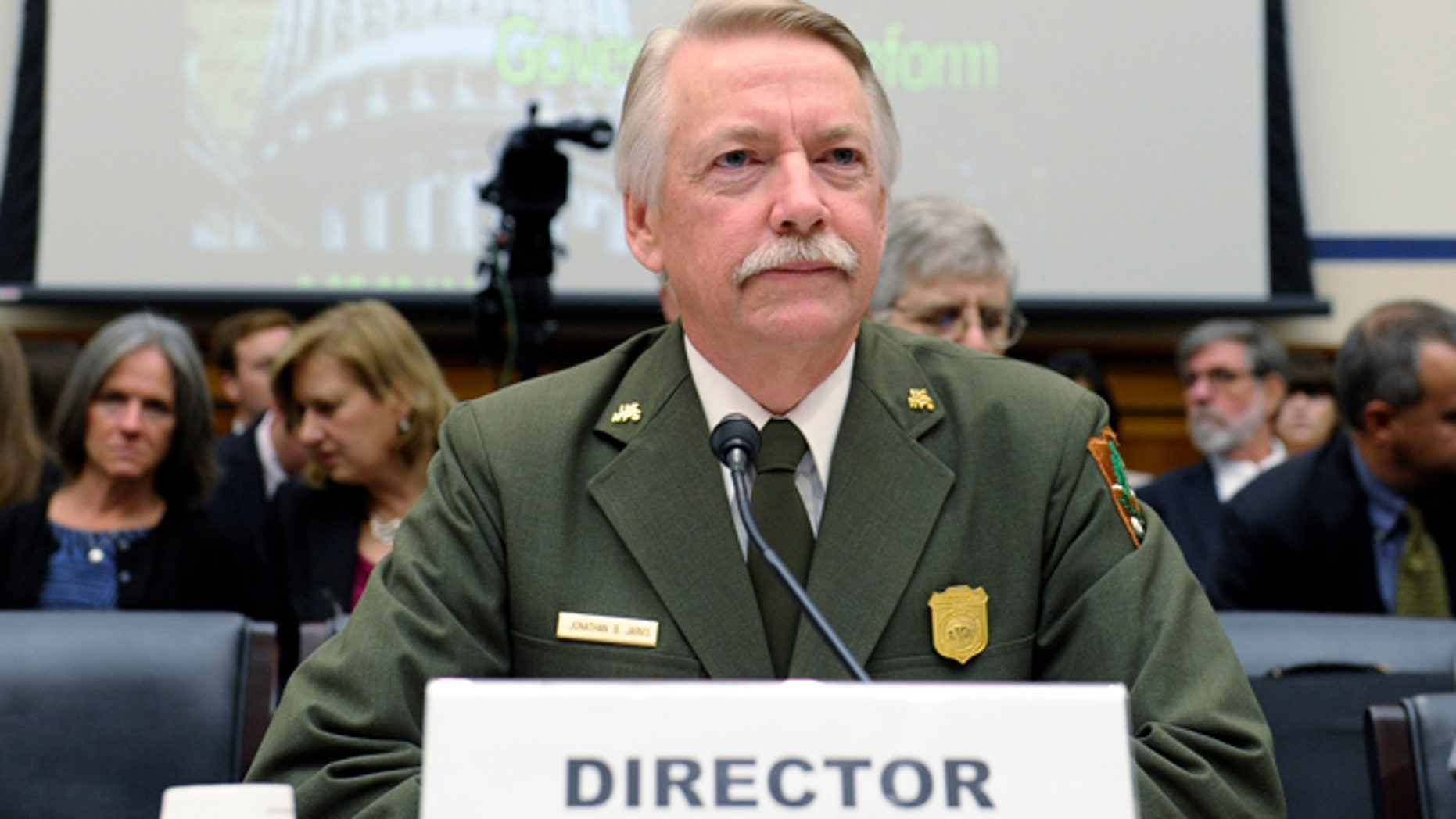 Oct. 16, 2013: National Park Service Director Jonathan Jarvis waits to testify before a joint hearing in Washington.