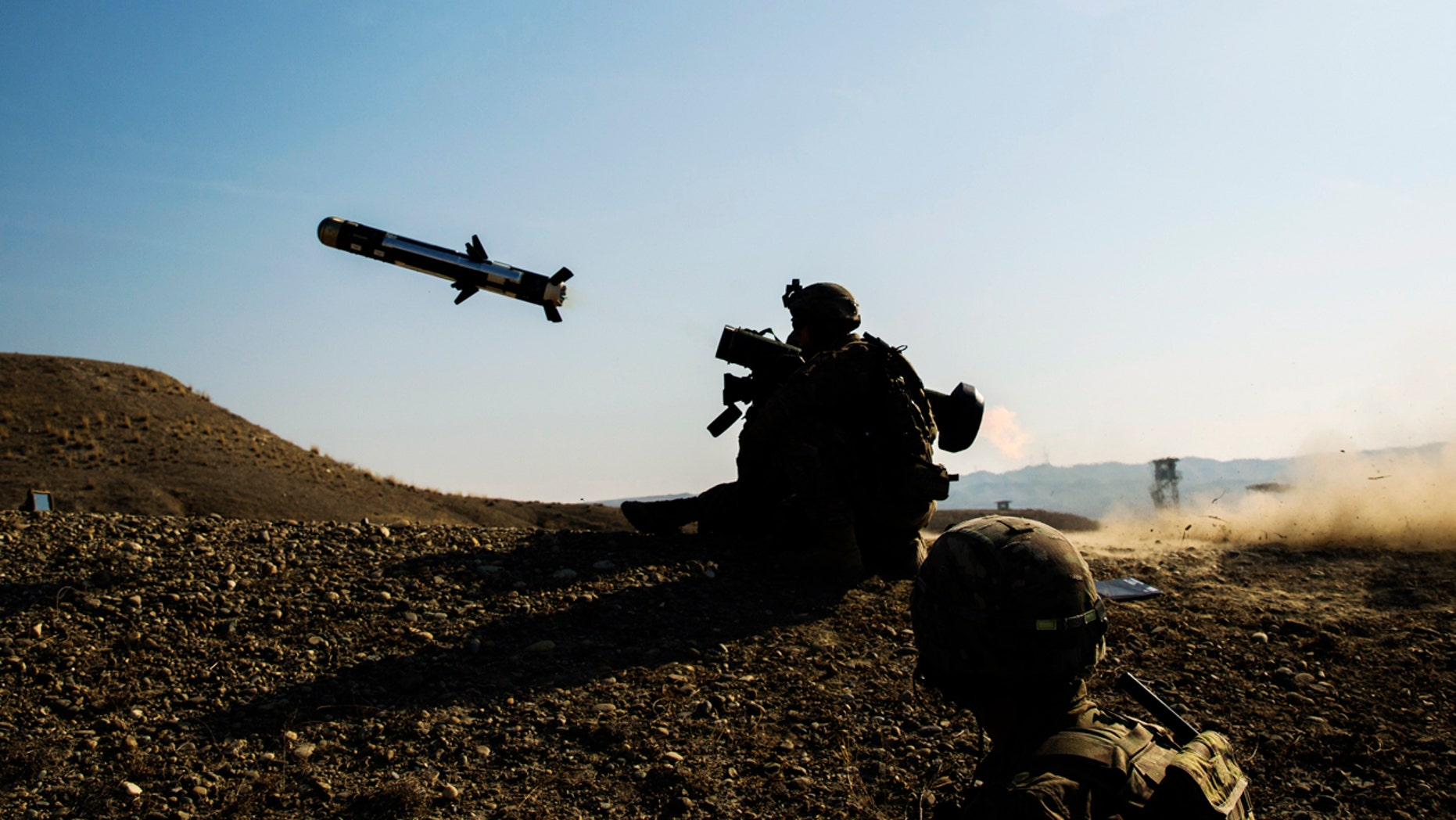 A U.S. soldier fires a Javelin anti-tank missile in Afghanistan in this  2015 photo.