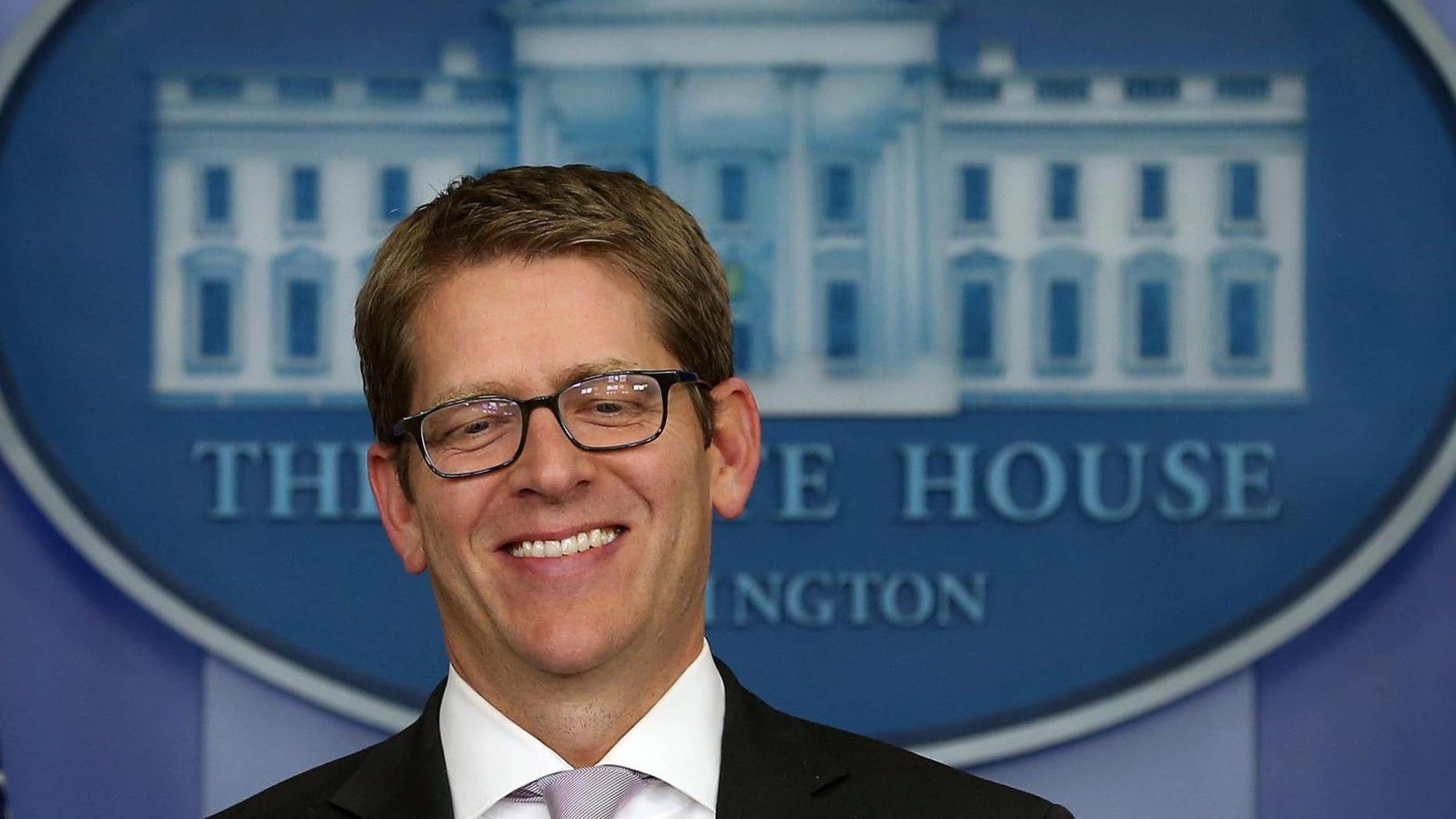 WASHINGTON, DC - OCTOBER 16: White House Press Secretary Jay Carney speaks during his daily briefing at the White House, October 16, 2013 in Washington, DC. The Senate announced that it had reached a bipartisan deal on funding the federal government and the extending the nation's debt limit after 16 days of a government shutdown. (Photo by Mark Wilson/Getty Images)