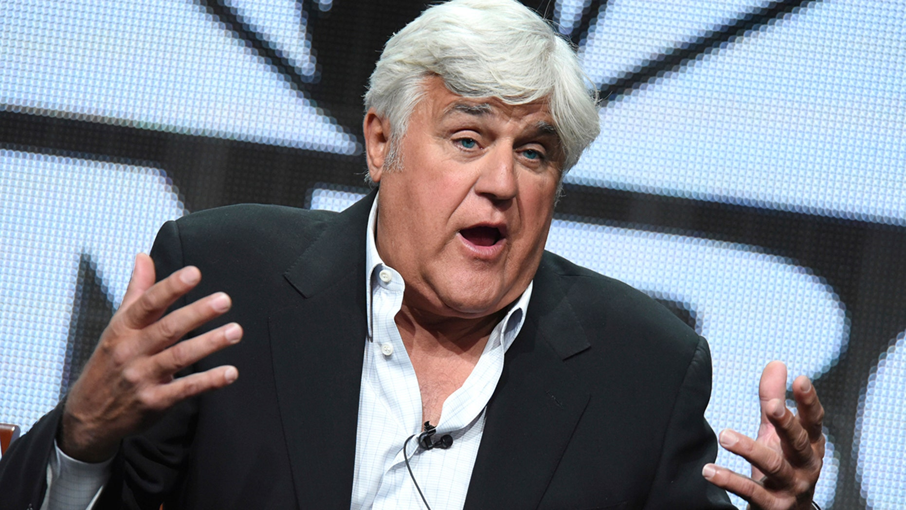 "In this Aug. 13, 2015, file photo, Jay Leno participates in the ""Jay Leno's Garage"" panel at the The NBCUniversal Summer TCA Tour at the Beverly Hilton Hotel in Beverly Hills, Calif. A television crew filmed Leno's Stanley steam-powered car driving the auto road to the summit of New Hampshire's Mount Washington this week. He told the Portland Press Herald that the idea was to recreate the first time a Stanley drove up the mountain in 1899."