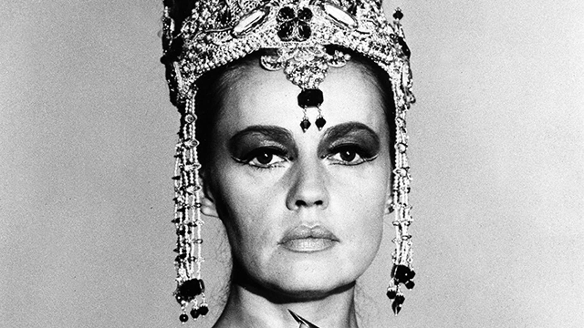 """In this Oct. 1, 1964 file photo French actress Jeanne Moreau is seen in her role as """"Mata Hari, Agent H-21,"""" in Paris."""