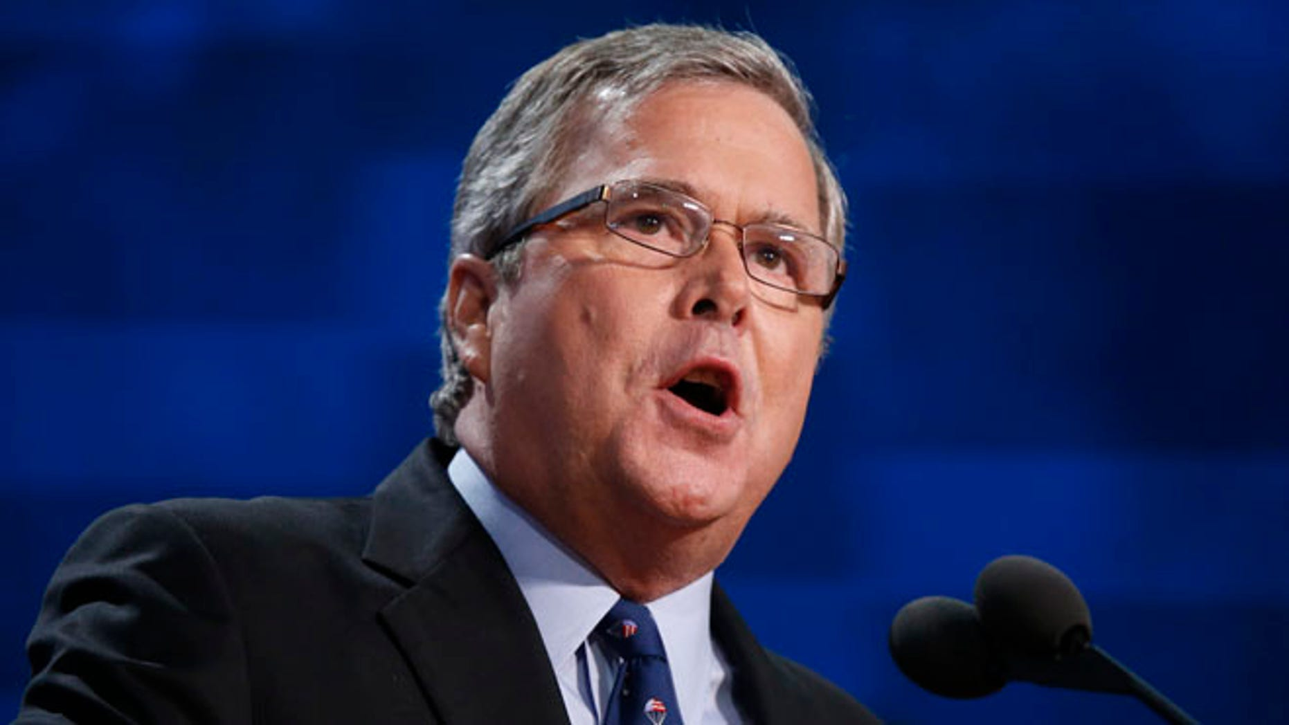 Aug. 30, 2012: Former Florida Governor Jeb Bush addresses the Republican National Convention in Tampa, Fla.
