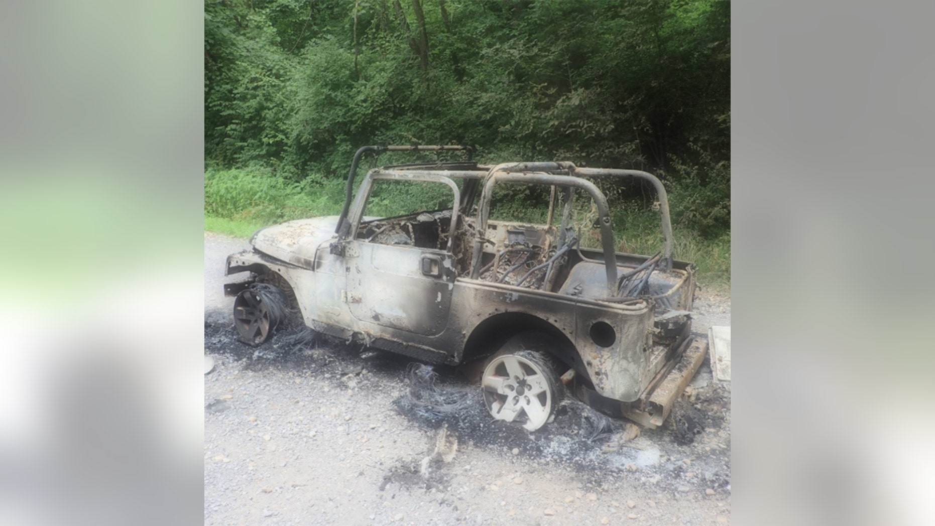 The vehicle was loaded with fireworks that were apparently ignited accidentally as others were being set off nearby.