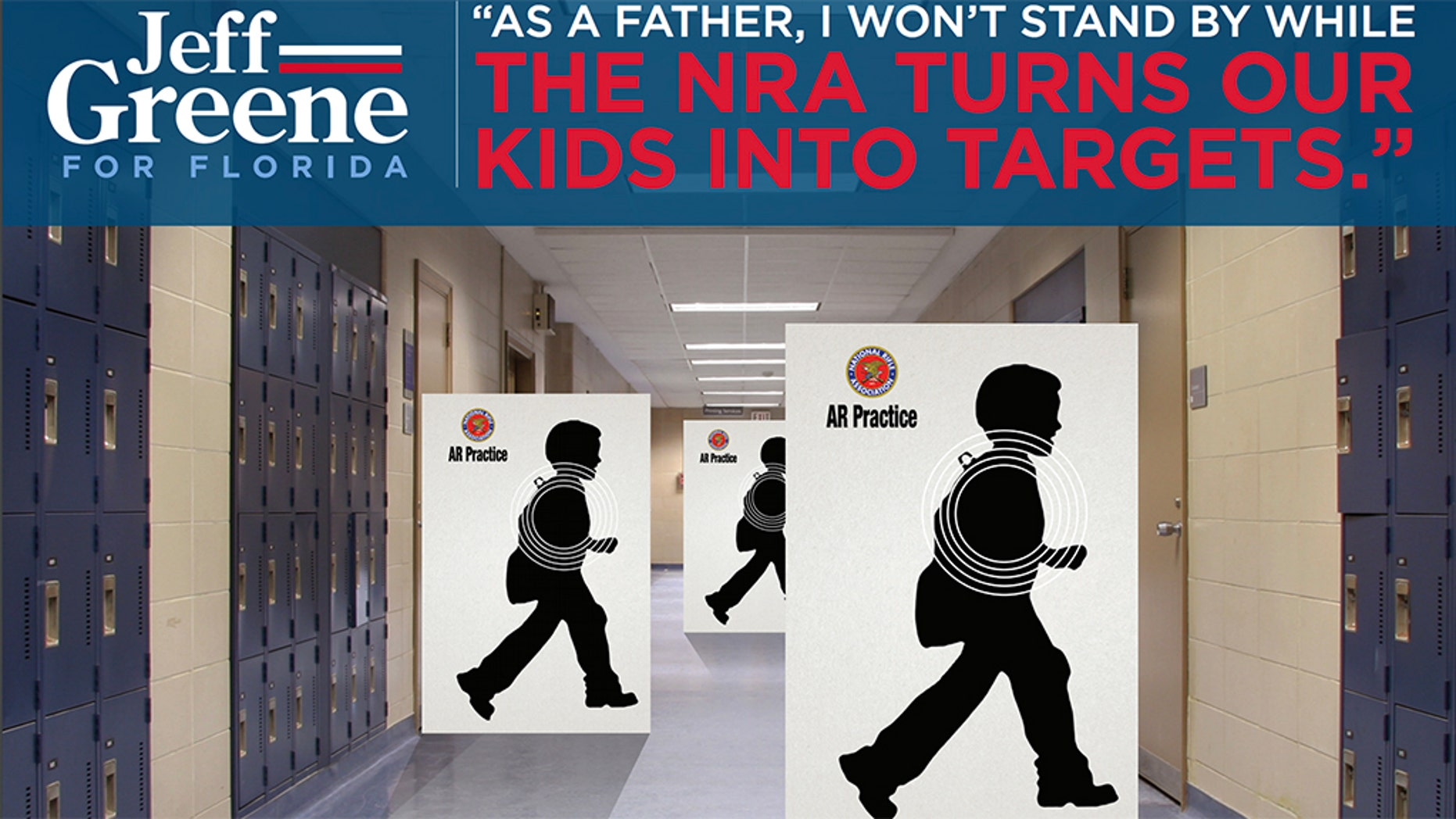 """A leading NRA official called Florida gubernatorial candidate Jeff Greene's mailer, which accuses the gun rights organization of using children as targets, """"repulsive."""""""