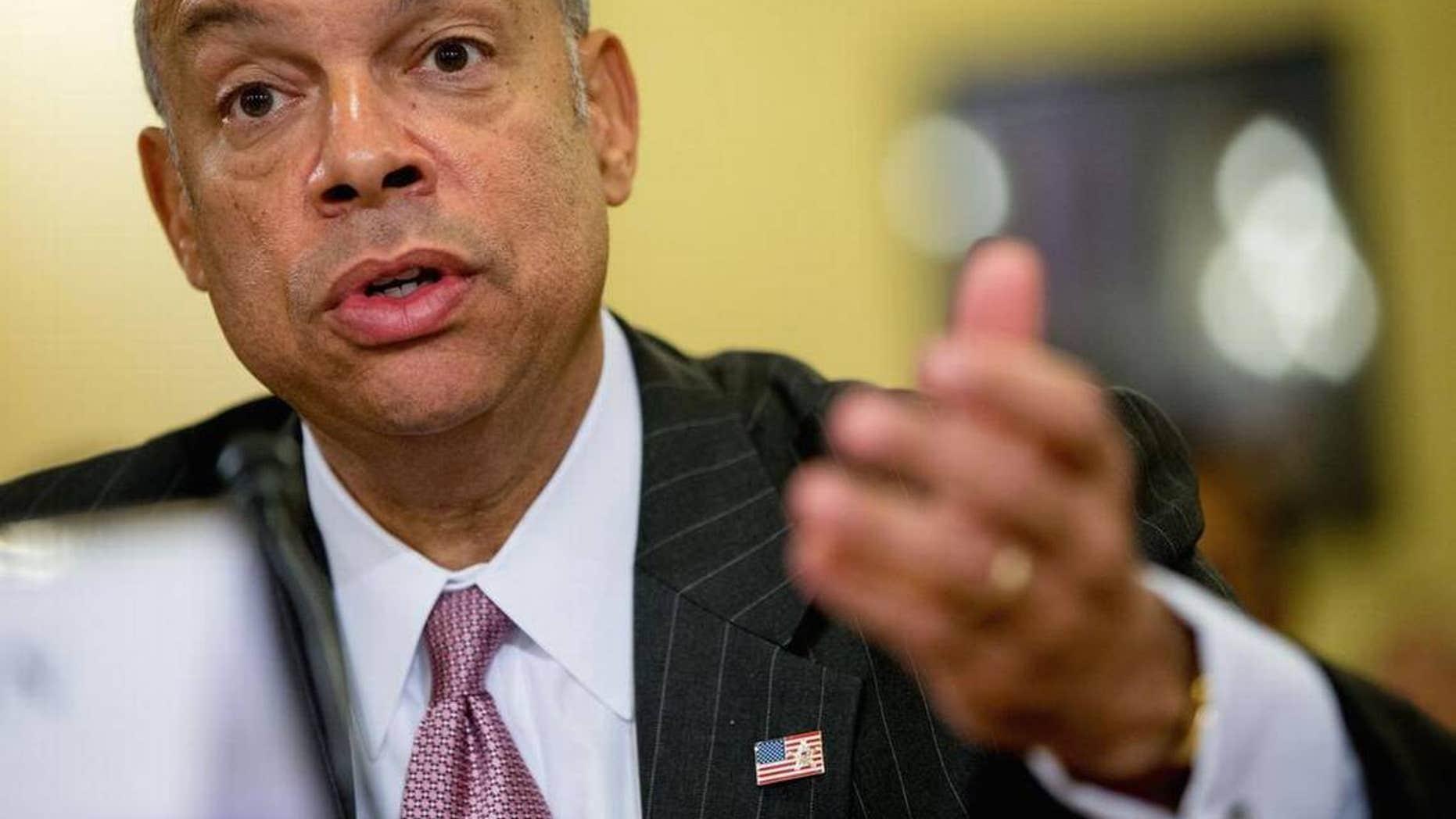 Homeland Security Secretary Jeh Johnson in October.