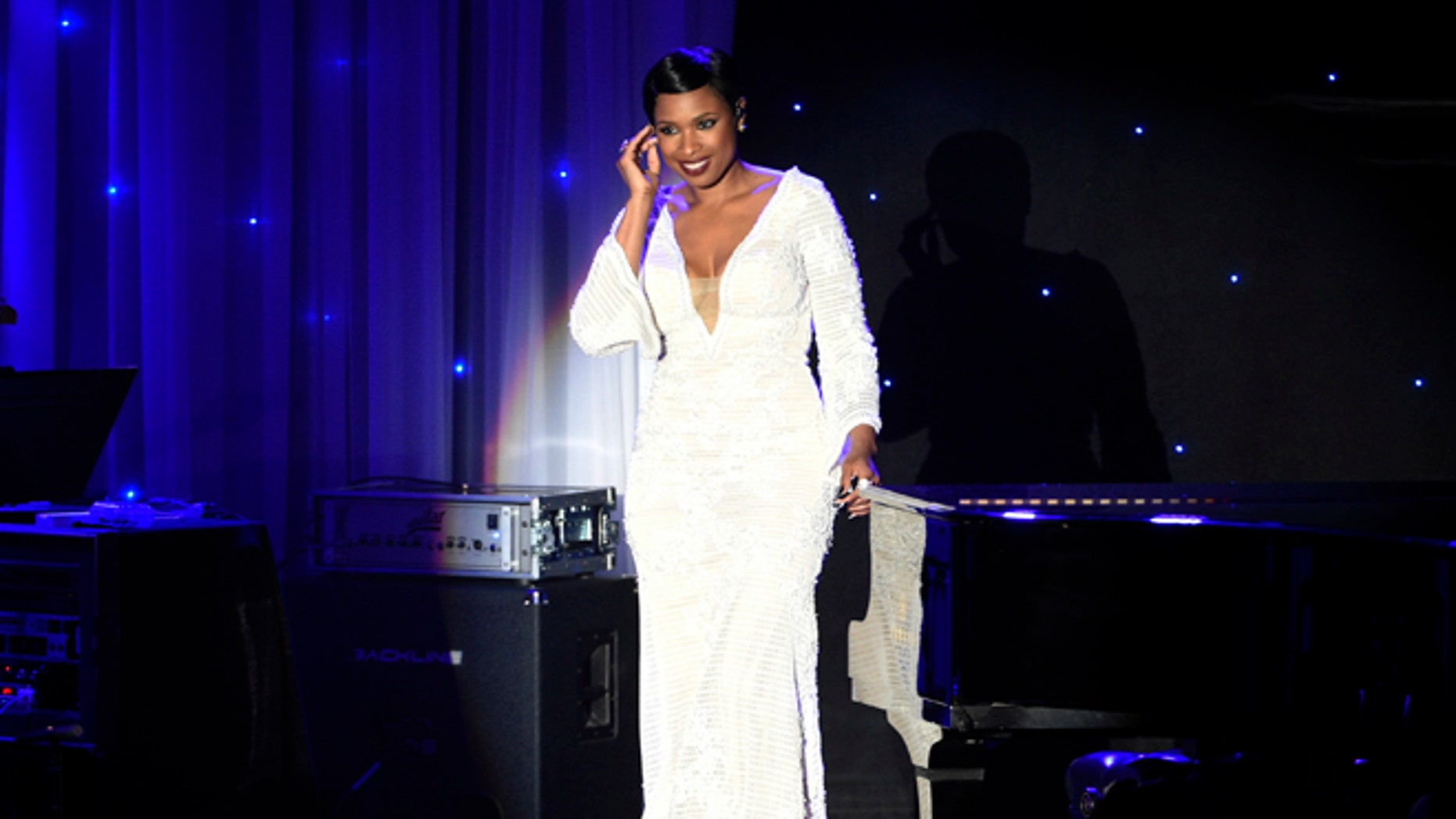 Jennifer Hudson performed at Clive Davis' annual pre-Grammy bash.