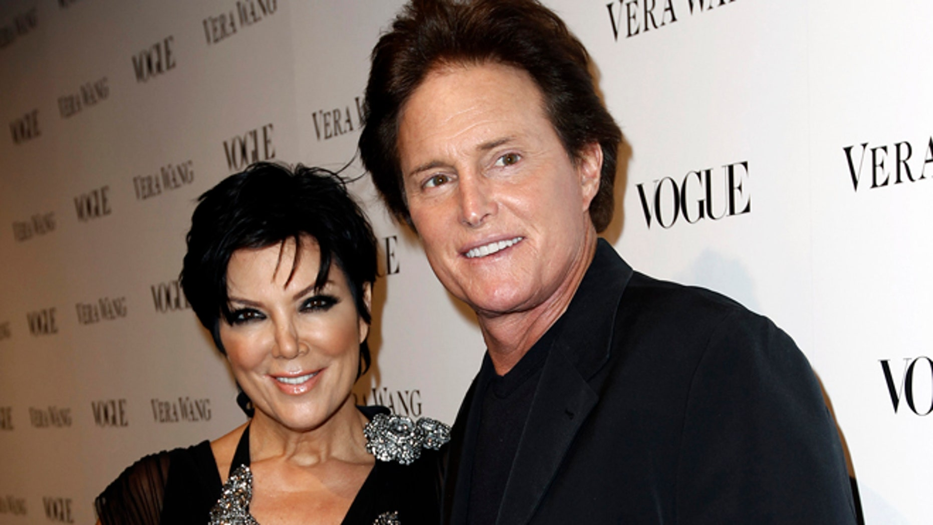 March 2, 2010: This file photo shows Kris Jenner, left, and Bruce Jenner at the Vogue Magazine dinner celebrating the launch of the Vera Wang store on Melrose in West Hollywood, Calif.