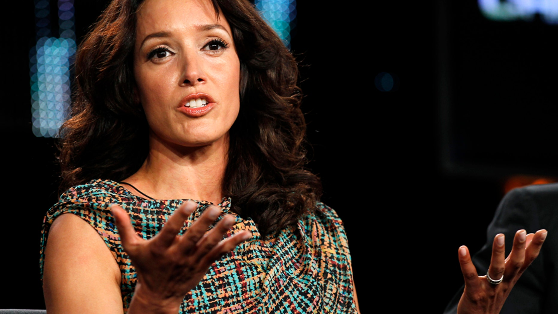 "Actress Jennifer Beals takes part in a panel discussion about her show ""The Chicago Code"" at the Fox Broadcasting Company Winter Press Tour 2011 for the Television Critics Association in Pasadena, California January 11, 2011."