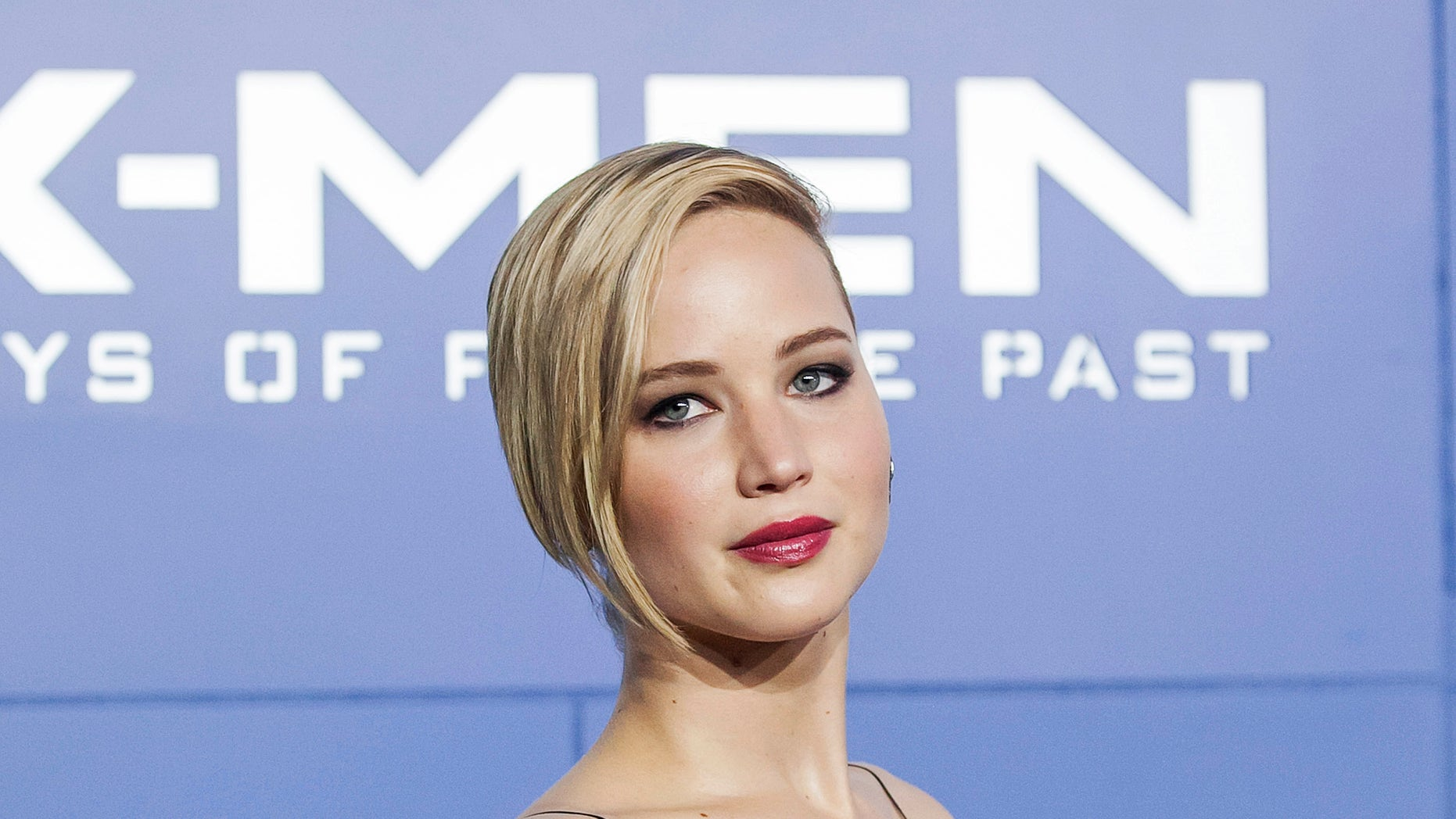 """May 10, 2014. Jennifer Lawrence attends the """"X-Men: Days of Future Past"""" world movie premiere in New York."""