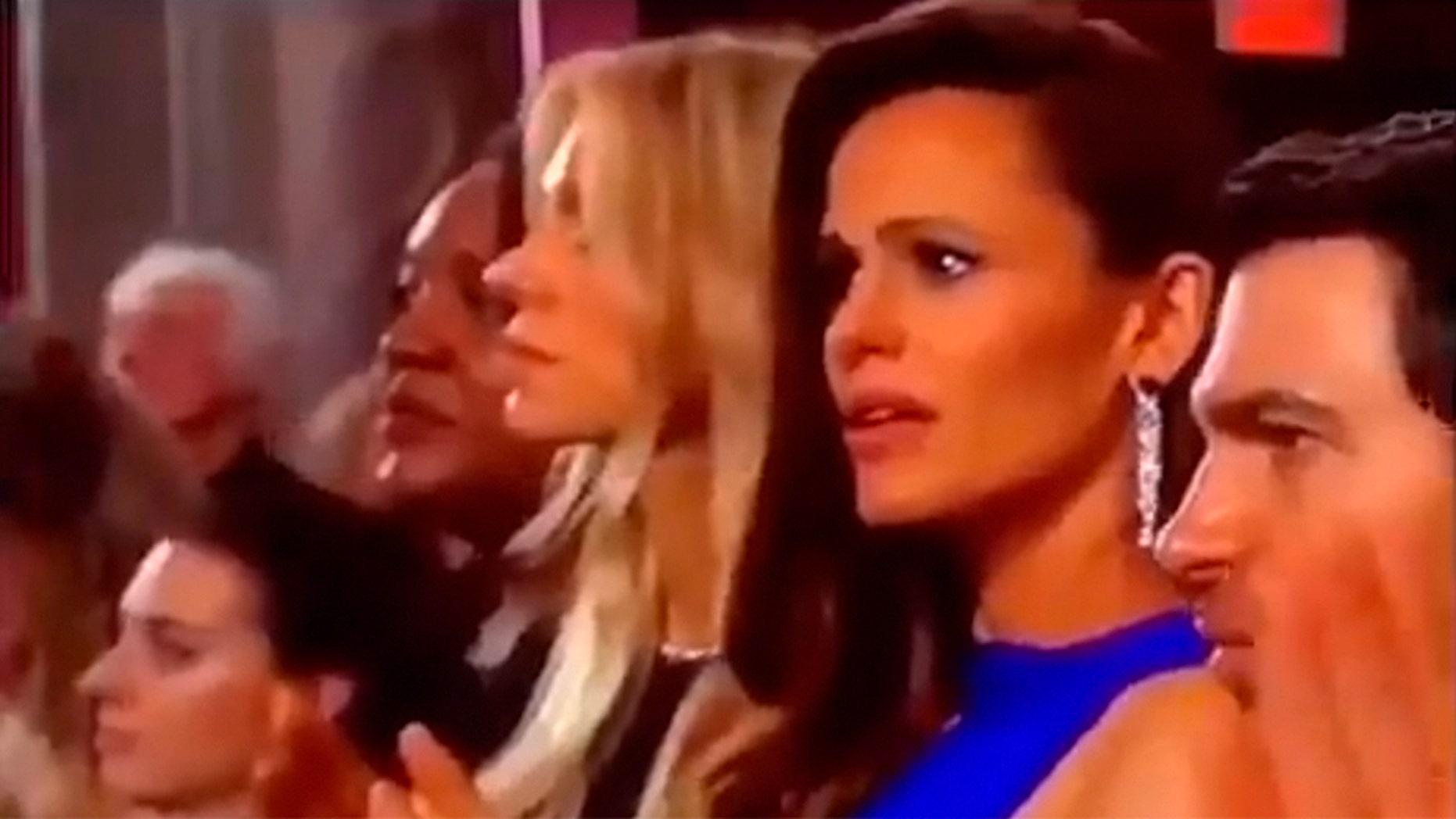 Jennifer Garner's shocked look went viral during the Oscars on Sunday night.