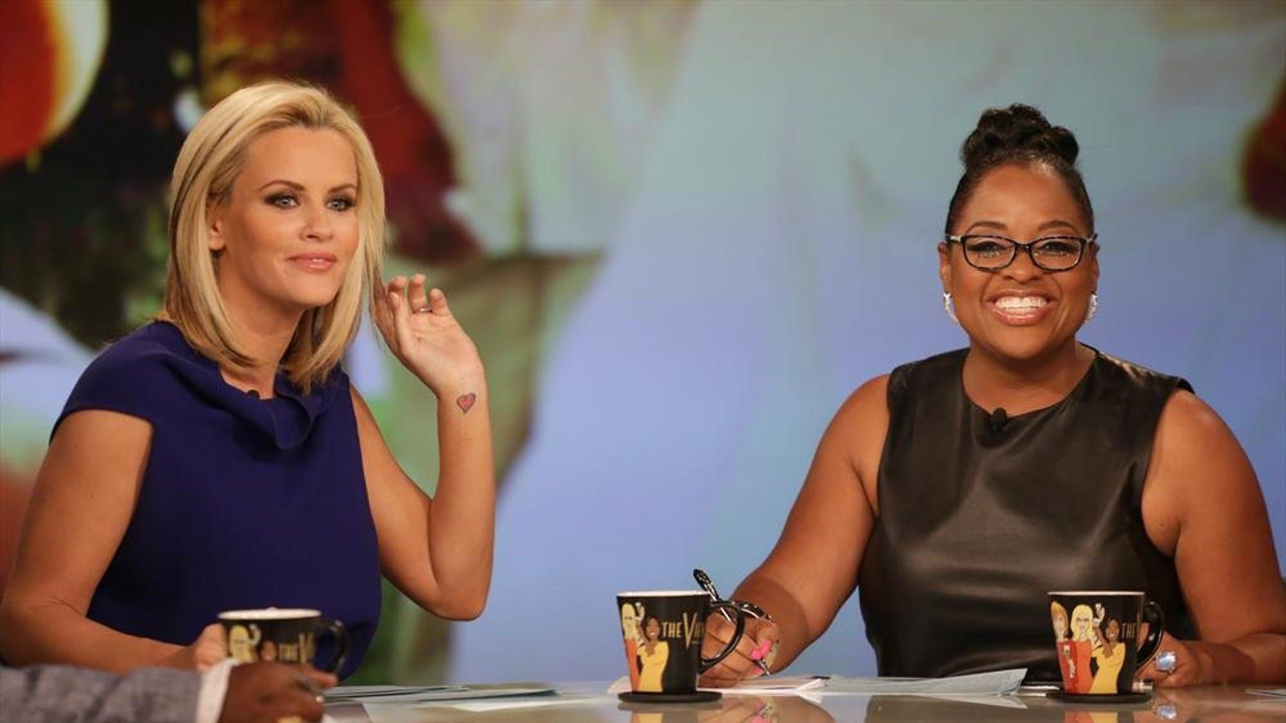 "Jenny McCarthy, left, and Sherri Shepherd host ""The View."""