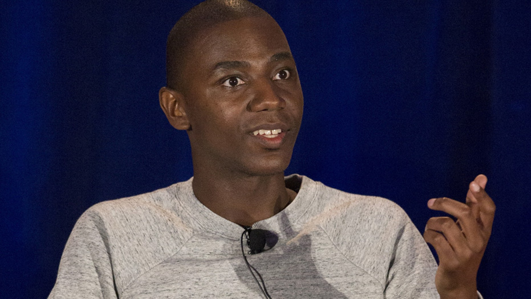 'Carmichael Show' star Jerrod Carmichael speaks at a press panel. NBC says the show will air the N-word uncensored.