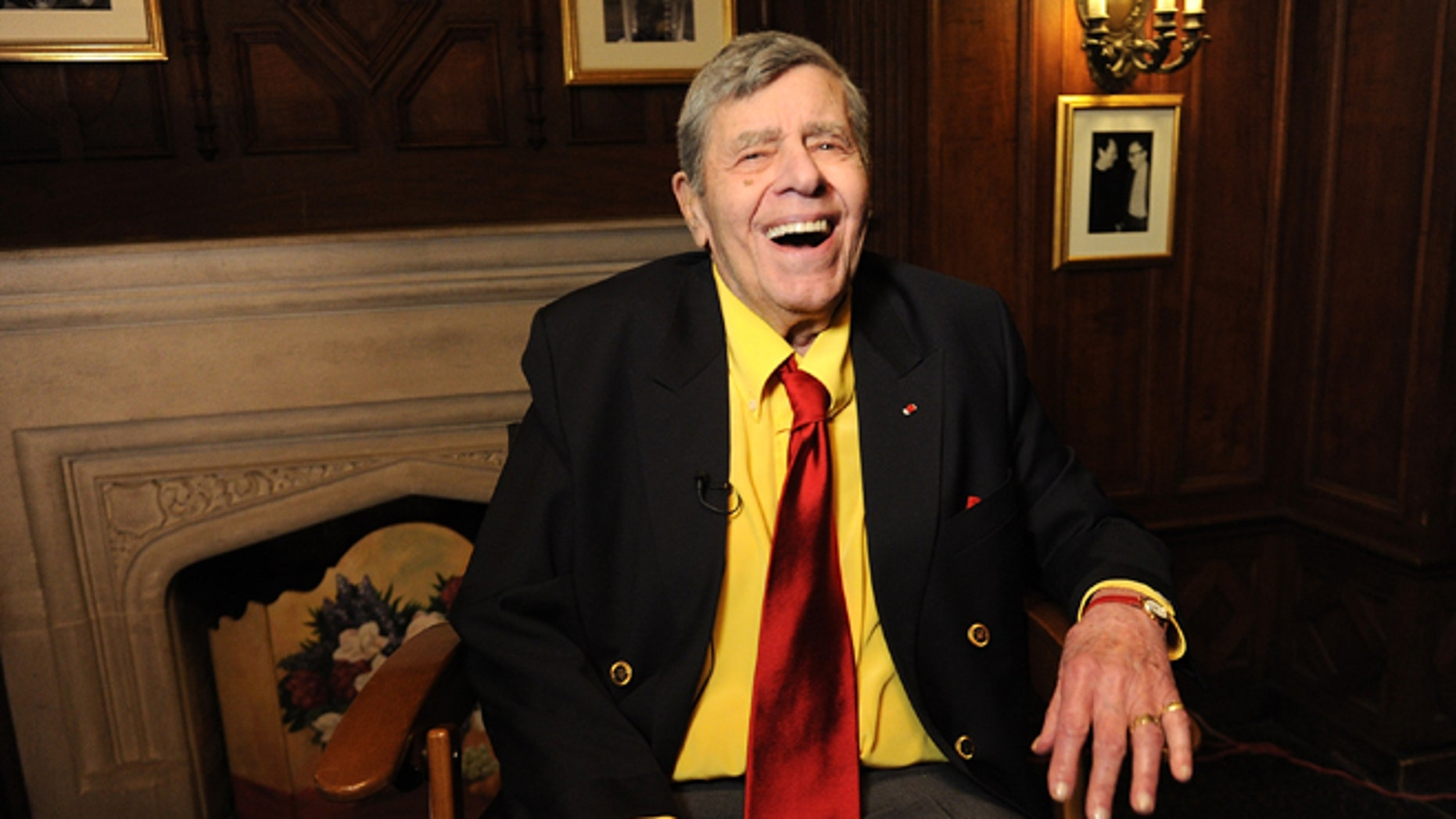 April 8, 2016. Entertainer Jerry Lewis poses for a portrait at the Friars Club before his 90th birthday celebration in New York.