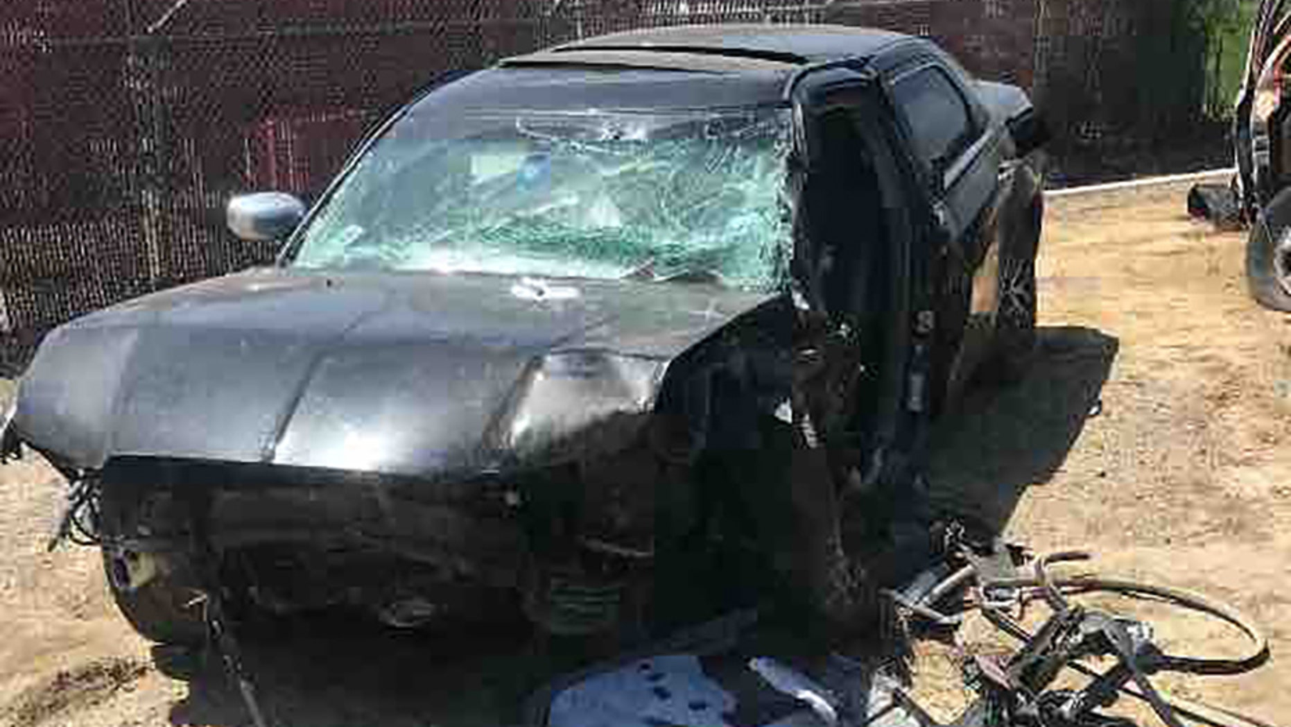 This Chrysler 300 was stolen, totaled after owner Jerry Ramirez, 18, stopped to help at a Texas accident scene.