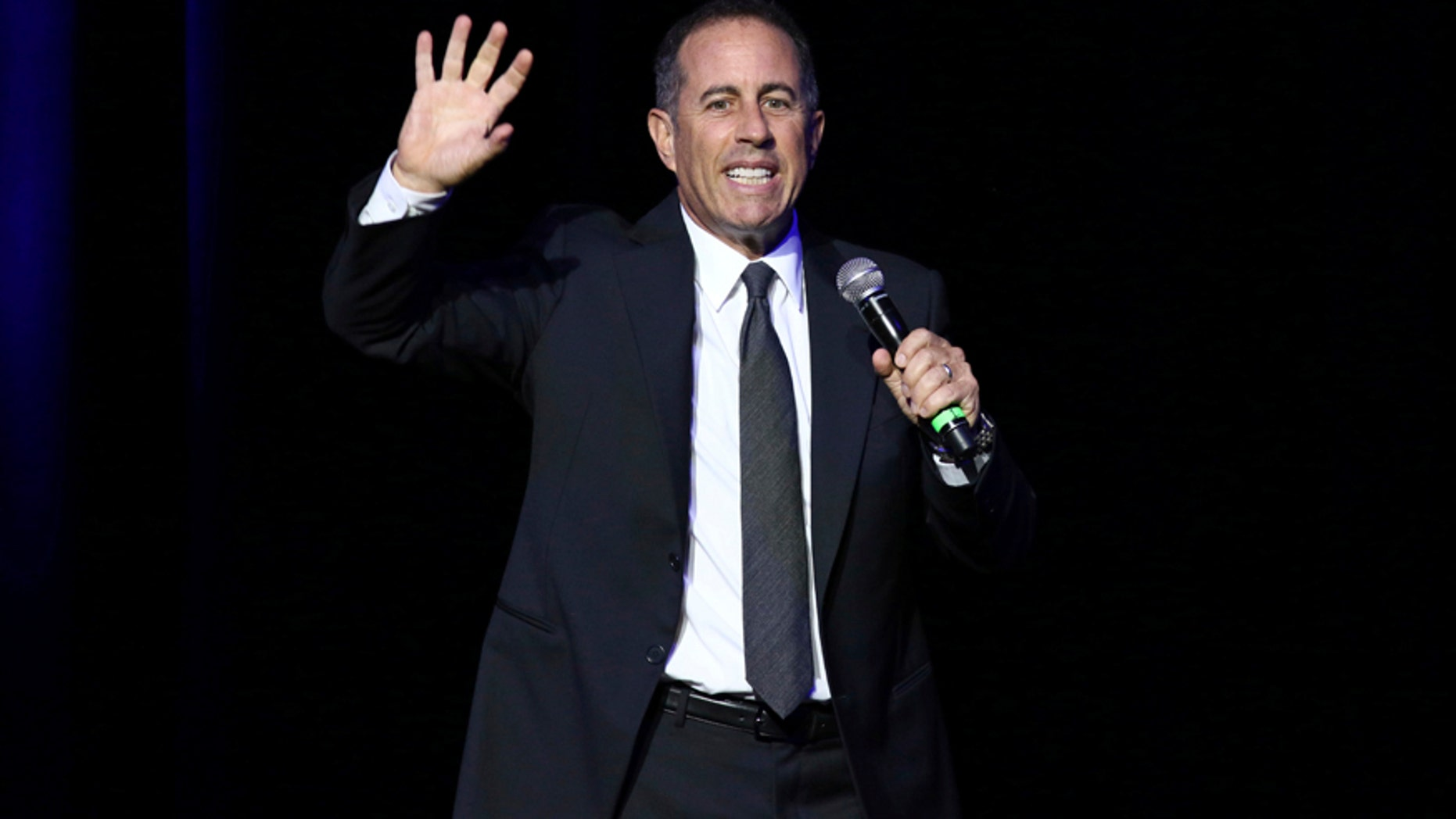 This Nov. 1, 2016 file photo shows Jerry Seinfeld performing at Stand Up For Heroes in New York. Seinfeld Hart will headline the Colossal Clusterfest, a three-day comedy event on June 2-4 in San Francisco.