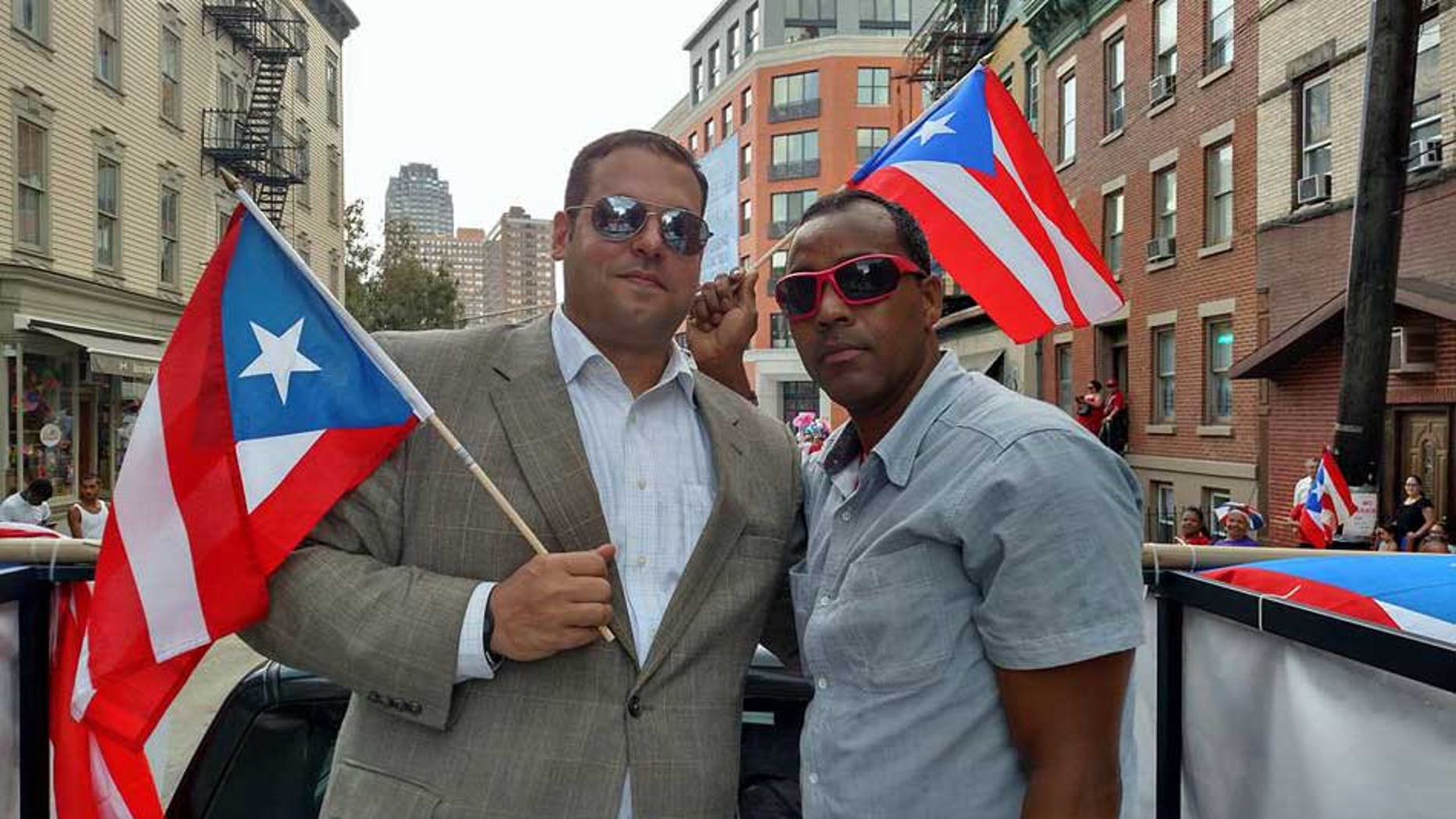 New Jersey Assembly candidates Garrett Simulcik and Herminio Mendoza.