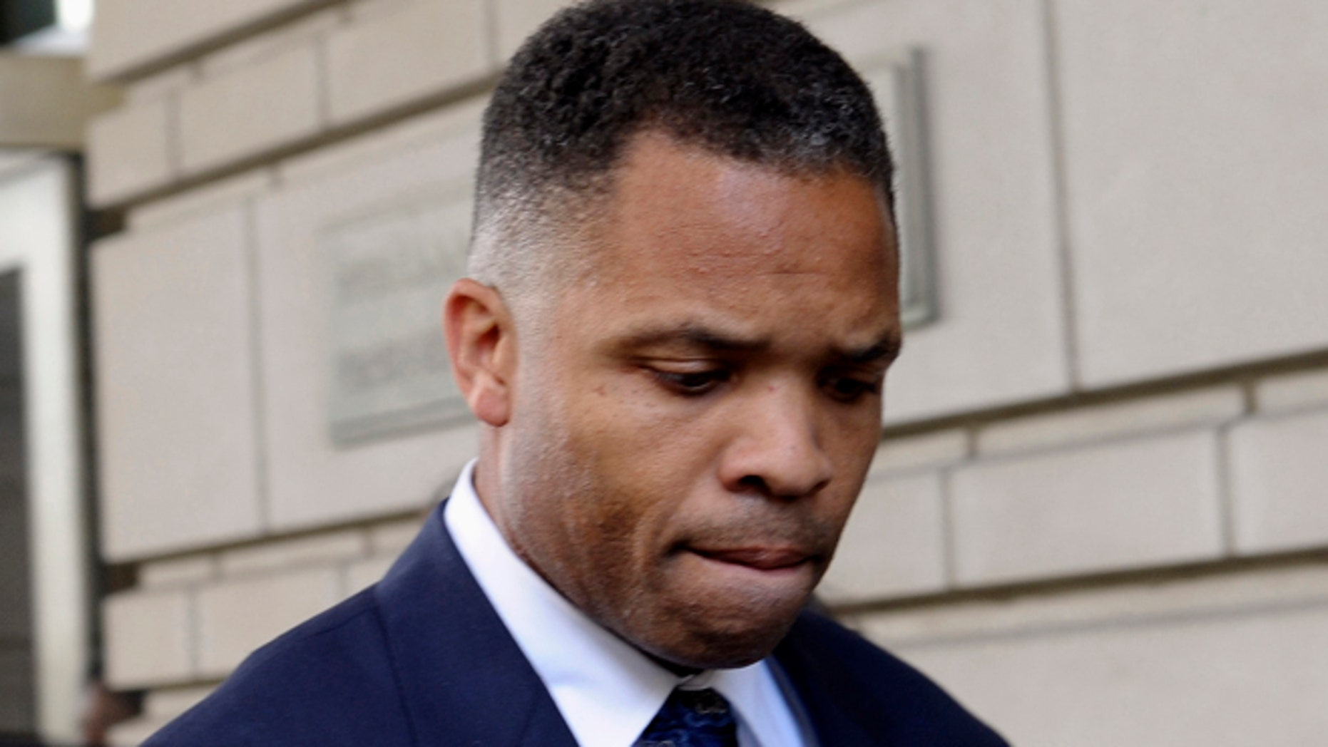 Aug. 14, 2013: Former Illinois Rep. Jesse Jackson Jr. leaves federal court in Washington after being sentenced to 2 1/2 years in prison for misusing $750,000 in campaign funds.