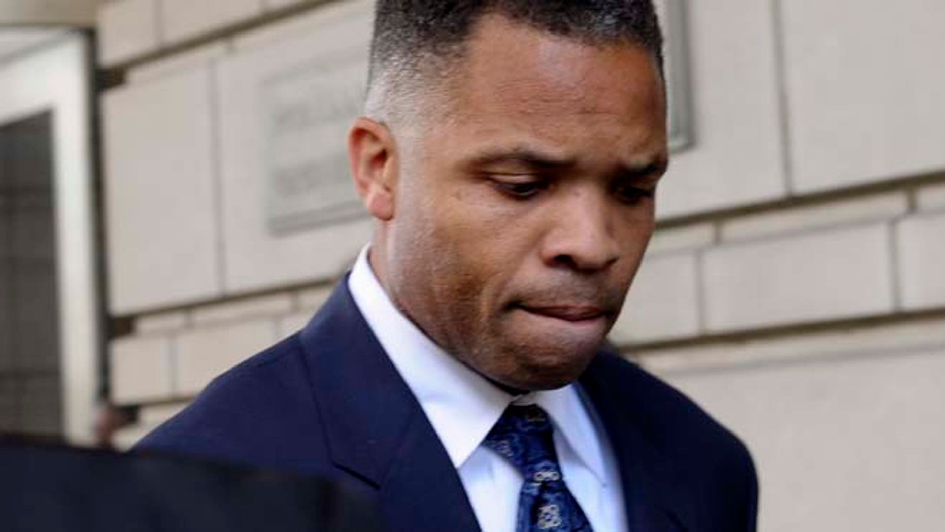 Aug. 14, 2013: In this file photo, former Illinois Rep. Jesse Jackson Jr., leaves federal court in Washington after being sentenced to 2 1/2 years in prison for misusing $750,000 in campaign funds.