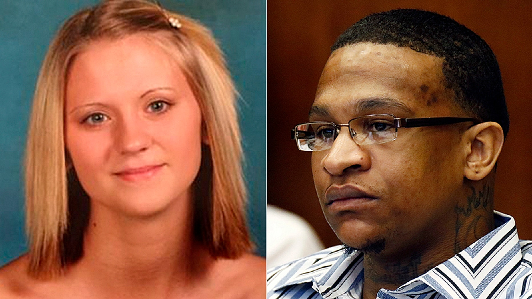 Quinton Tellis, right, is accused of burning 19-year-old Jessica Chambers alive in her car.