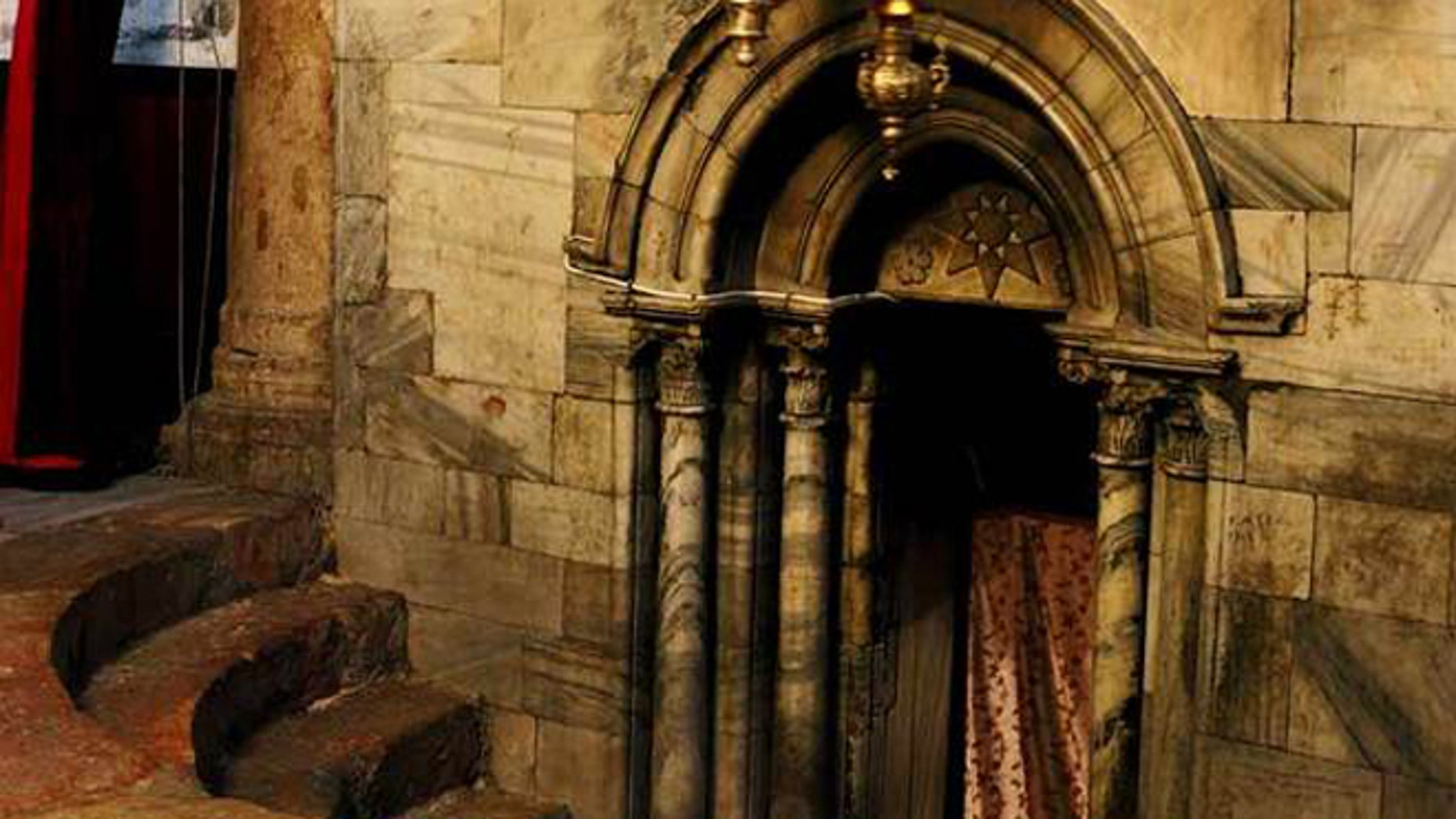 Inside the Nativity Church, Bethlehem, a place many believe marks the birthplace of Jesus.