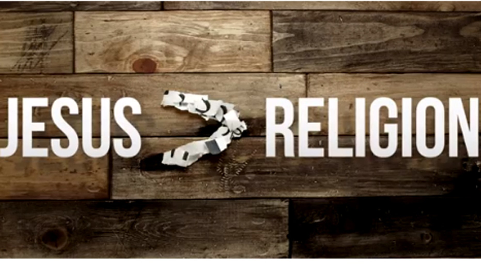 "A screenshot of Jefferson Bethke introduction video to his Youtube series, ""Why Jesus Still Hates Religion (And You Should Too)."""