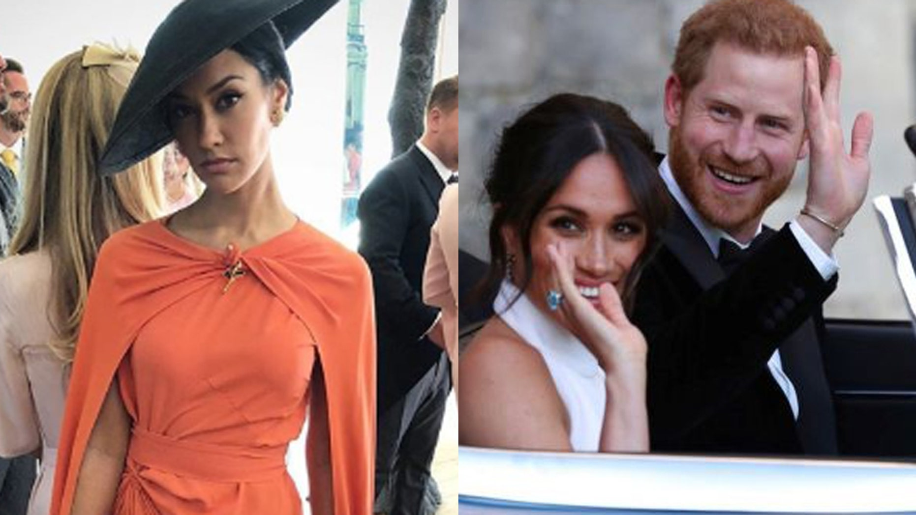 Actress Janina Gavankar reveals more details from inside Meghan Markle and Prince Harry's royal wedding reception.