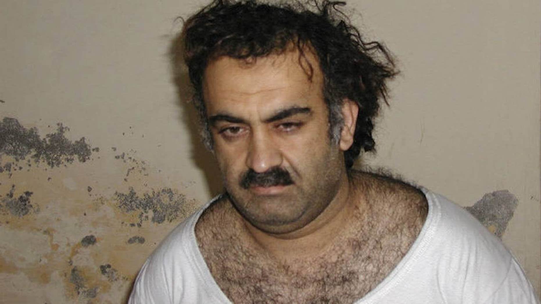 Khalid Sheik Mohammed, alleged mastermind behind the 9/11 attacks, was captured in March 2003 in Pakistan.