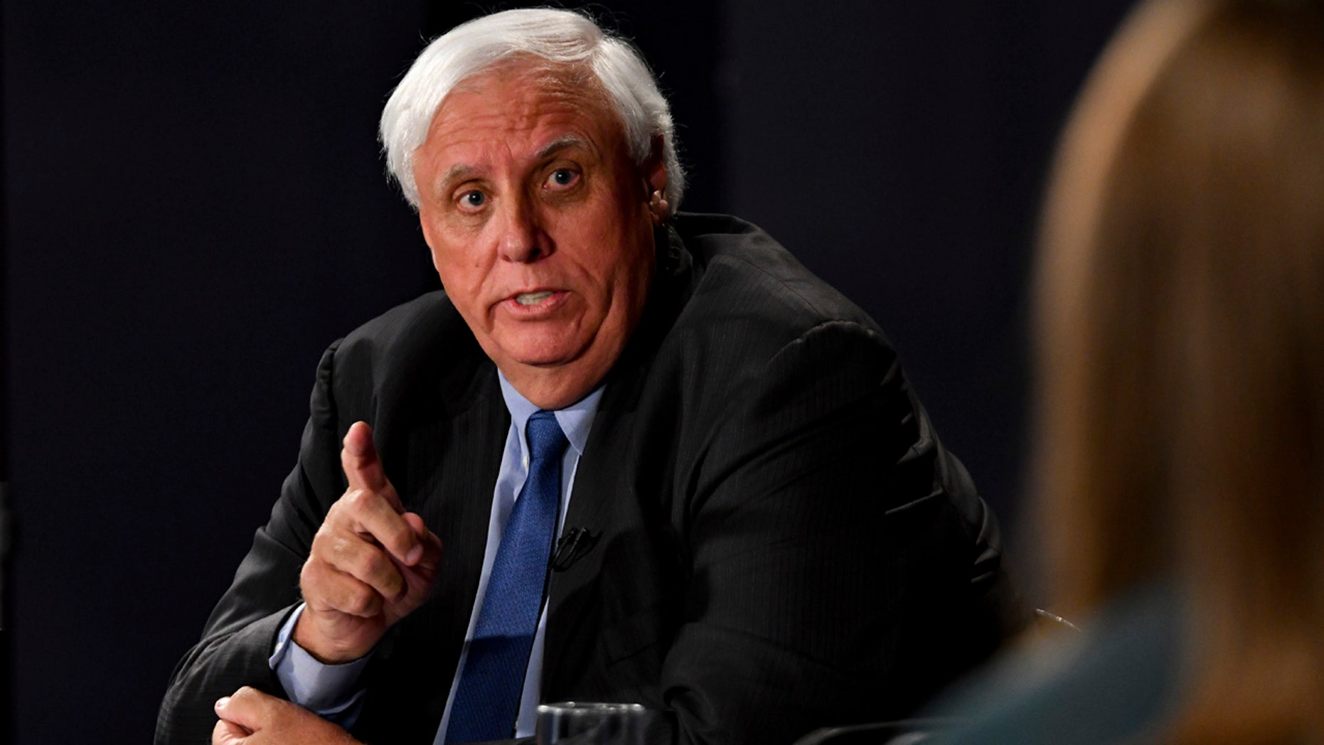 Democratic candidate Jim Justice speaks during a gubernatorial debate against Senate Majority Leader Bill Cole R-W.Va., Tuesday, Oct. 4, 2016 at the Clay Center in Charleston W.Va. (AP Photo/Tyler Evert)
