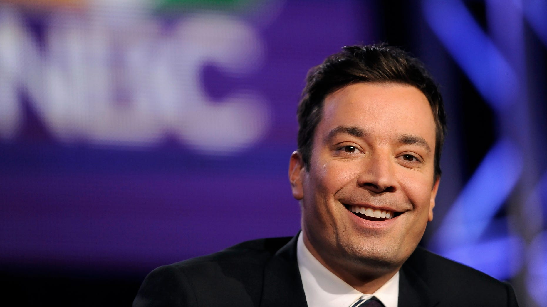 "January 19, 2014. Jimmy Fallon, host of ""The Tonight Show Starring Jimmy Fallon"" takes part in a panel discussion at the NBC portion of the 2014 Winter Press Tour for the Television Critics Association in Pasadena, California,"