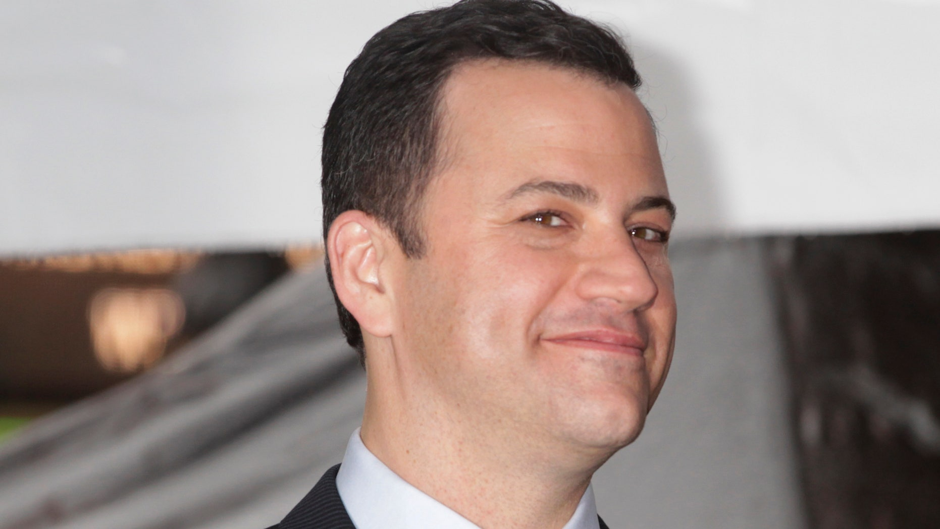 January 25, 2013. Talk show host Jimmy Kimmel smiles during ceremonies unveiling his star on the Hollywood Walk of Fame in Hollywood.