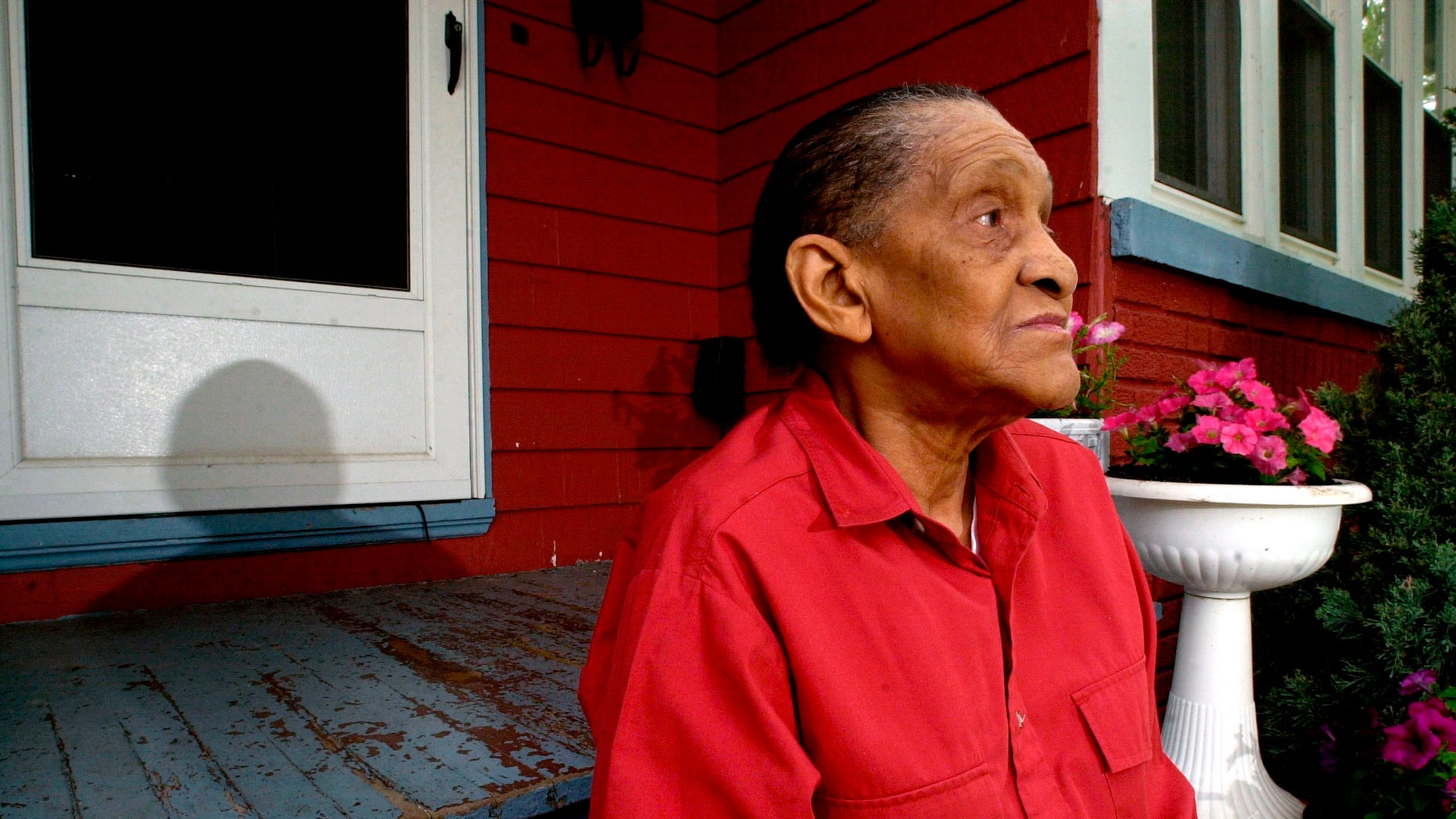 June 18, 2004. Jazz legend Jimmy Scott poses for a portrait at his home in Euclid, Ohio.