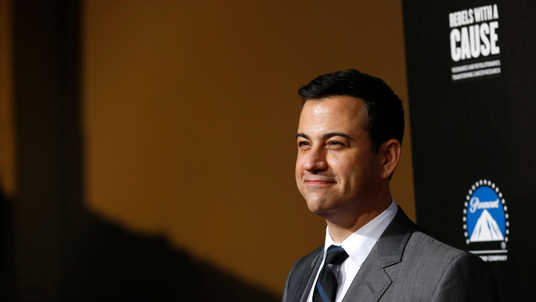 """Television host Jimmy Kimmel poses at the second annual """"Rebels With a Cause"""" gala at Paramount Pictures Studios in Los Angeles, California March 20, 2014. REUTERS/Mario Anzuoni"""