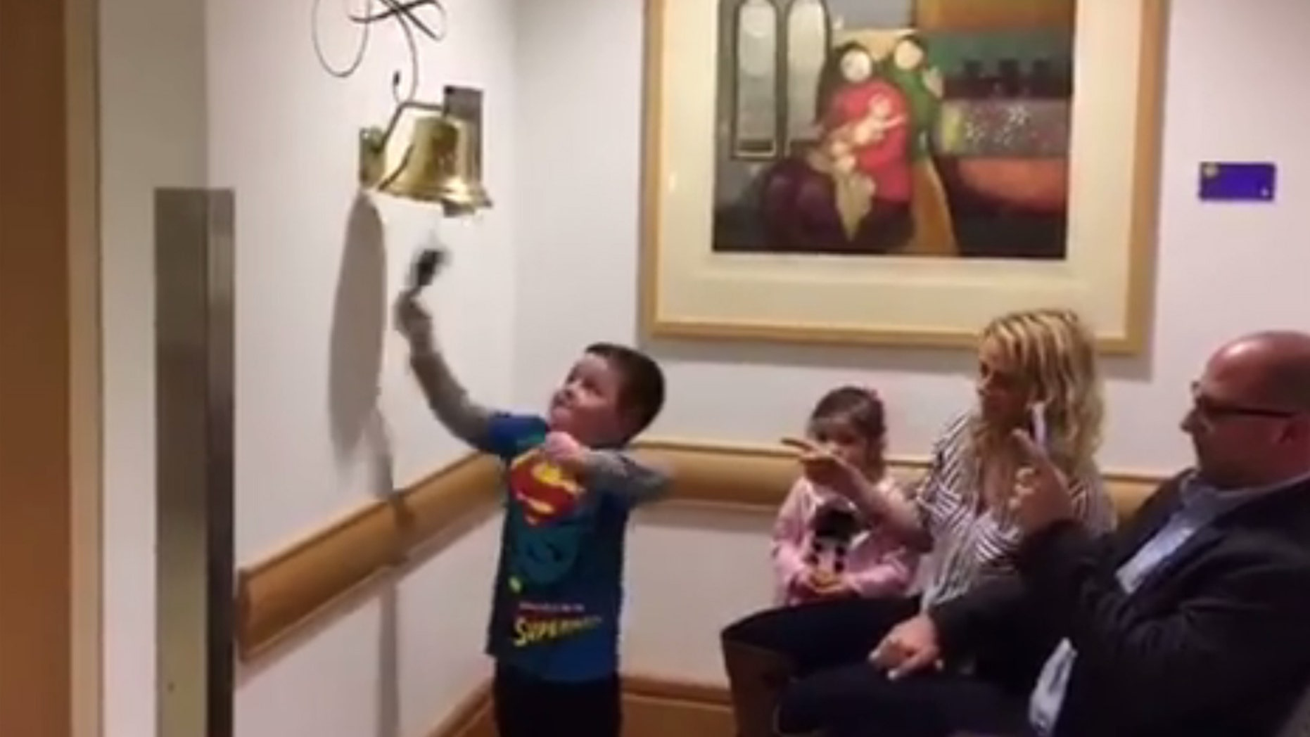 Jimmy Spagnolo celebrated the end of his chemotherapy treatment.