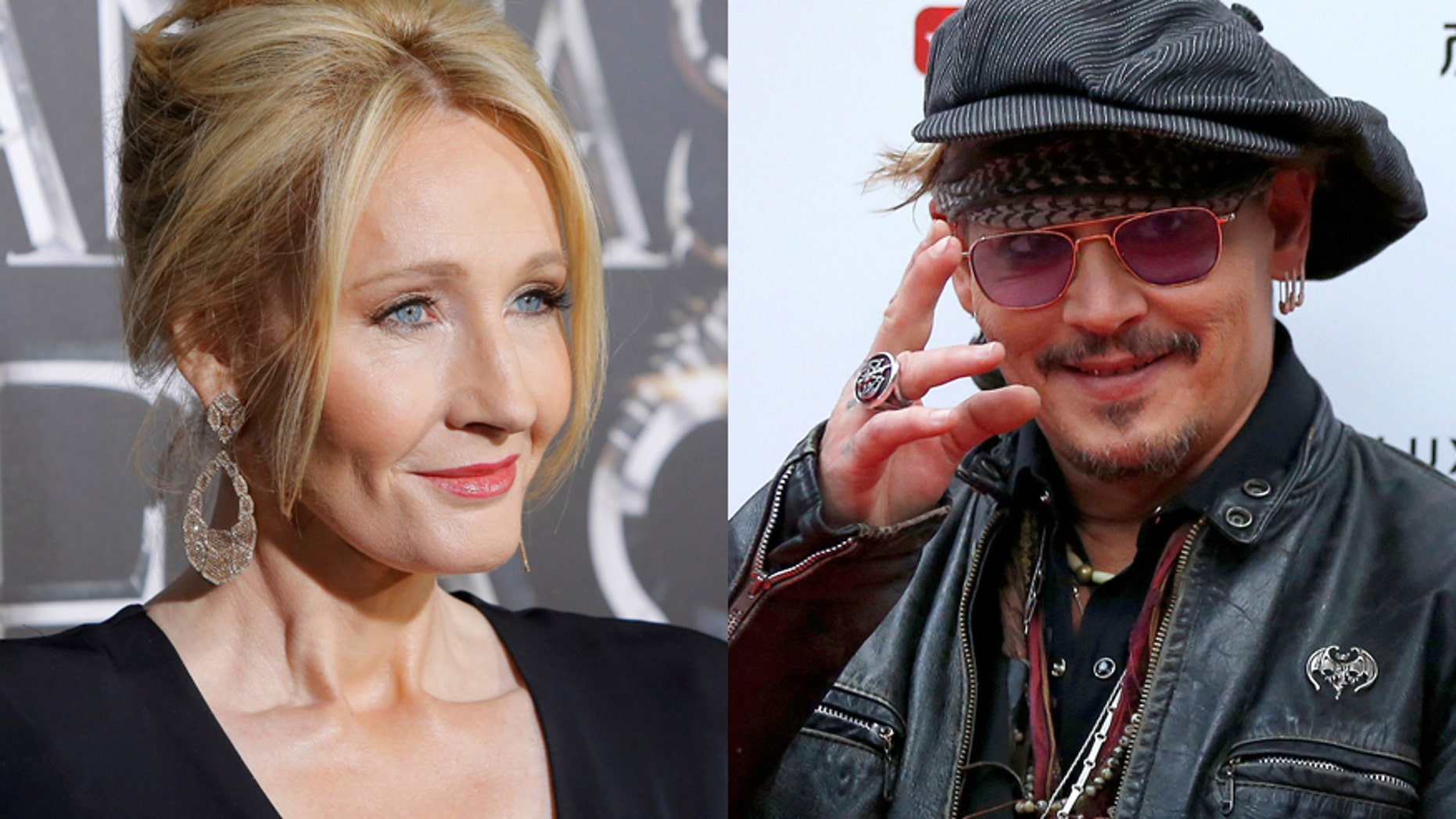 J.K. Rowling (left) and actor Johnny Depp.