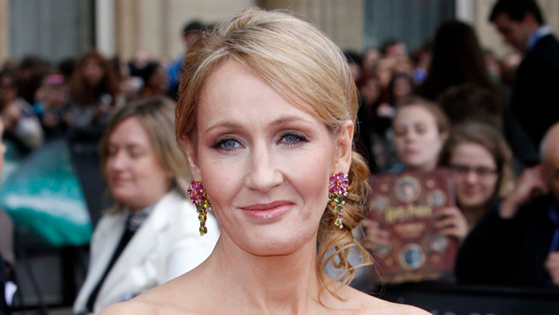 """July 7, 2011. British author JK Rowling arrives in Trafalgar Square, in central London, for the World Premiere of  """"Harry Potter and The Deathly Hallows: Part 2."""""""
