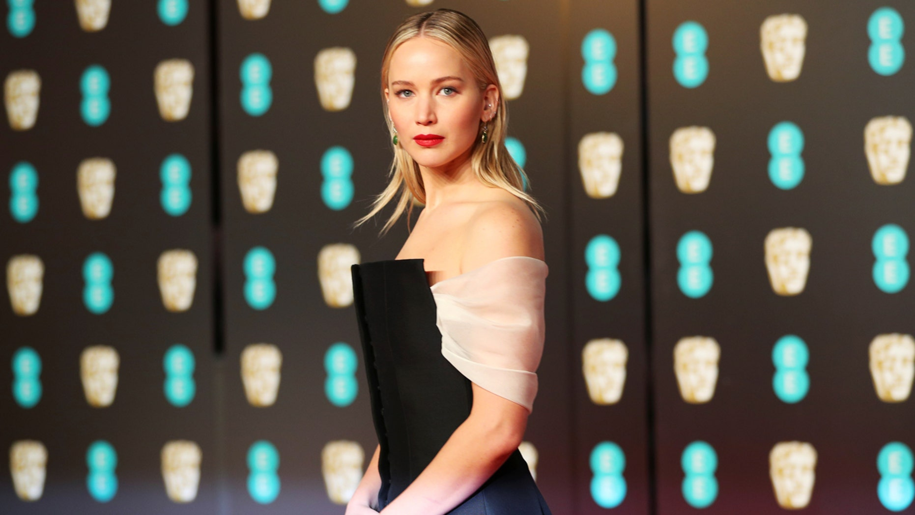 Jennifer Lawrence arrives at the British Academy of Film and Television Awards (BAFTA) at the Royal Albert Hall in London, Britain, February 18, 2018.