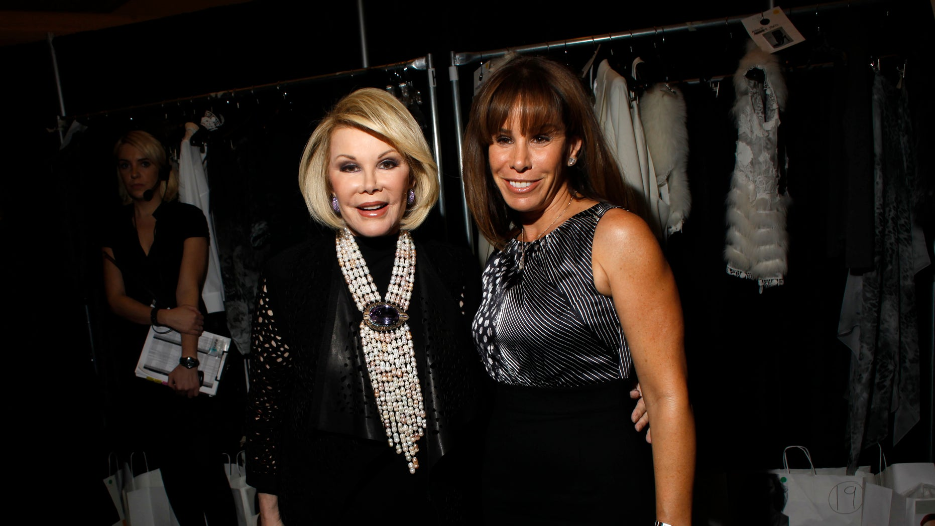 February 16, 20111. Comedienne Joan Rivers (L) and TV personality Melissa Rivers attend the Elie Tahari Fall/Winter 2011 collection show during New York Fashion Week.