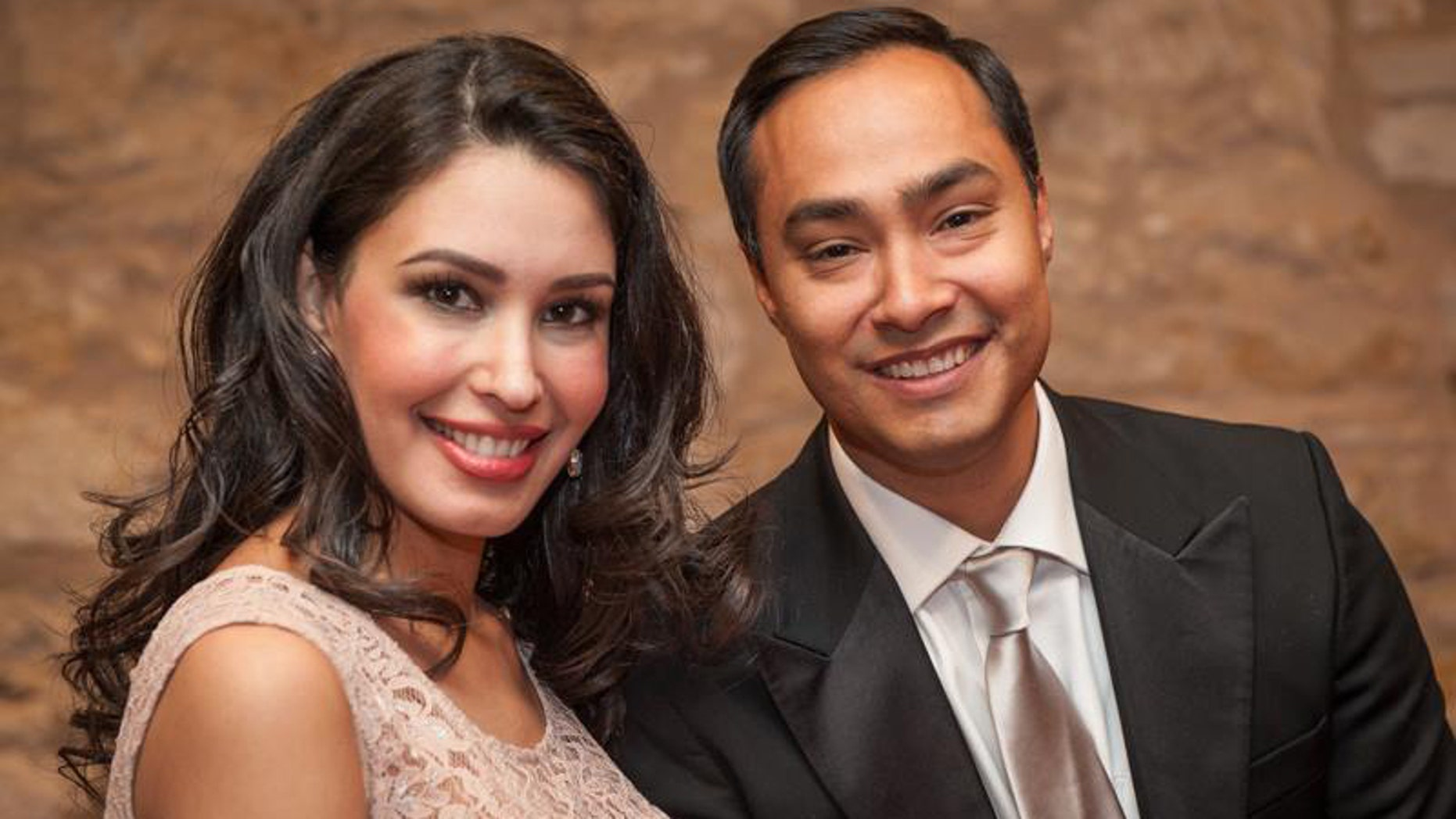 U.S. Rep. Joaquin Castro and his wife, Anna Flores