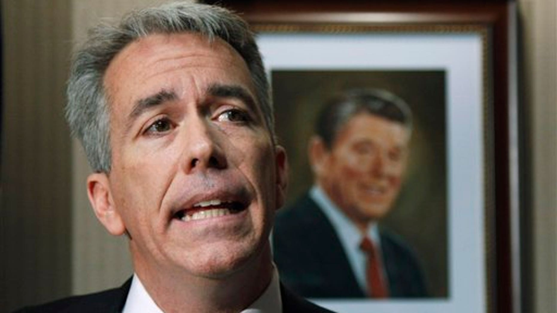 In this Nov. 17, 2010 file photo, then-Rep.-elect Joe Walsh, R-Ill., speaks on Capitol Hill in Washington.