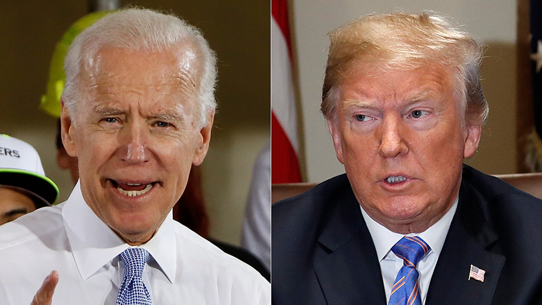 President Trump says running against former VP Joe Biden in 2020 would be a 'dream.'