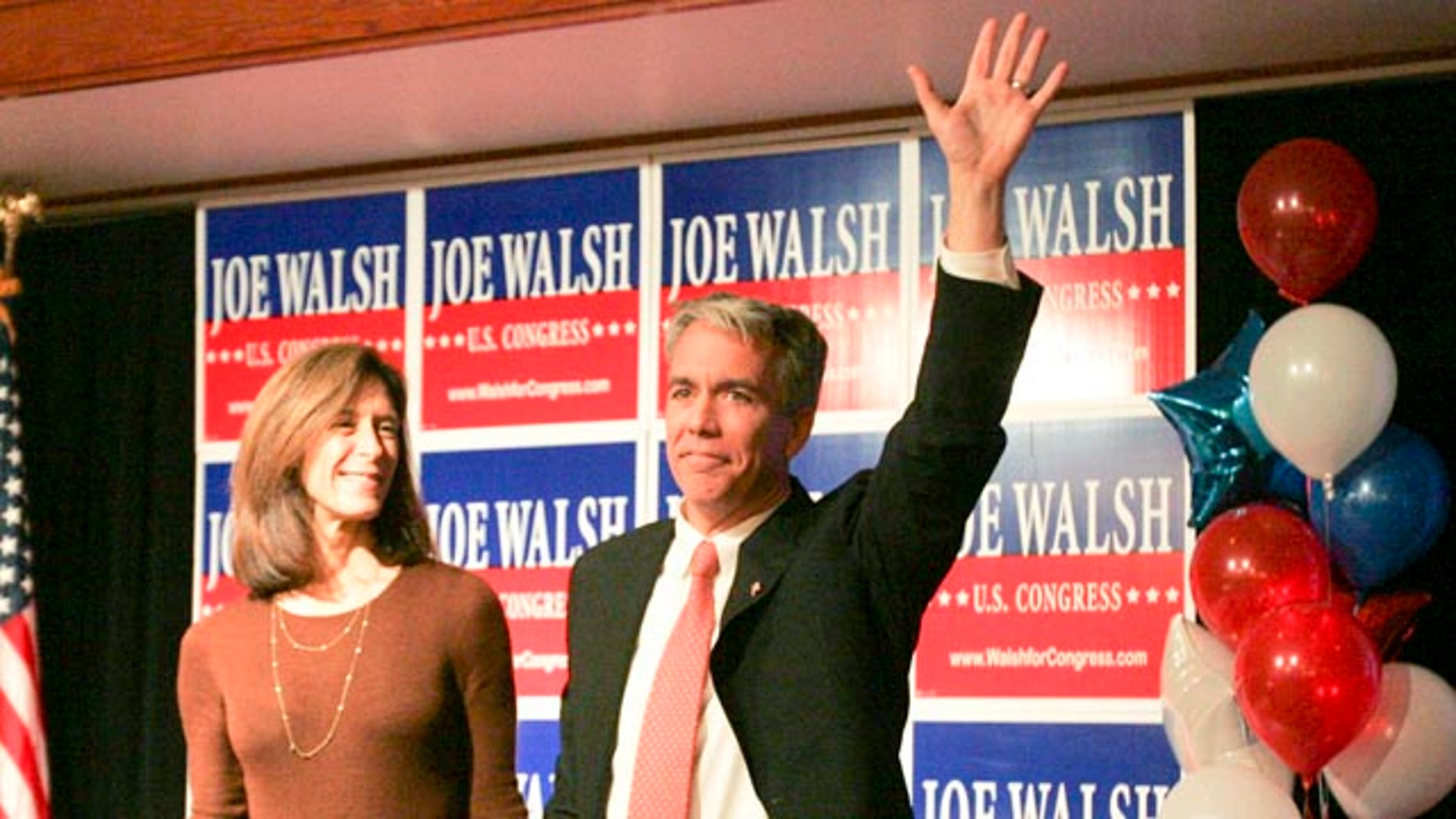 Nov. 2: Republican Joe Walsh waves to the crowd of supporters, while standing next to his wife in Wauconda, Ill.  On Nov. 16, U.S. Rep. Melissa Bean conceded to Walsh on Tuesday in the tightly-fought race for her former 8th Illinois Congressional District seat.