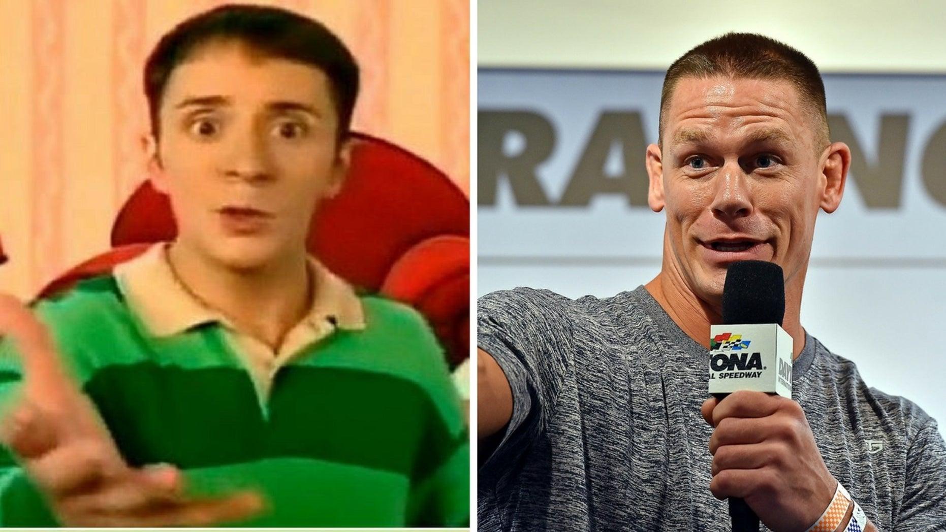 """Steve Burns joked he would fight John Cena for the hosting gig of """"Blue's Clues."""""""