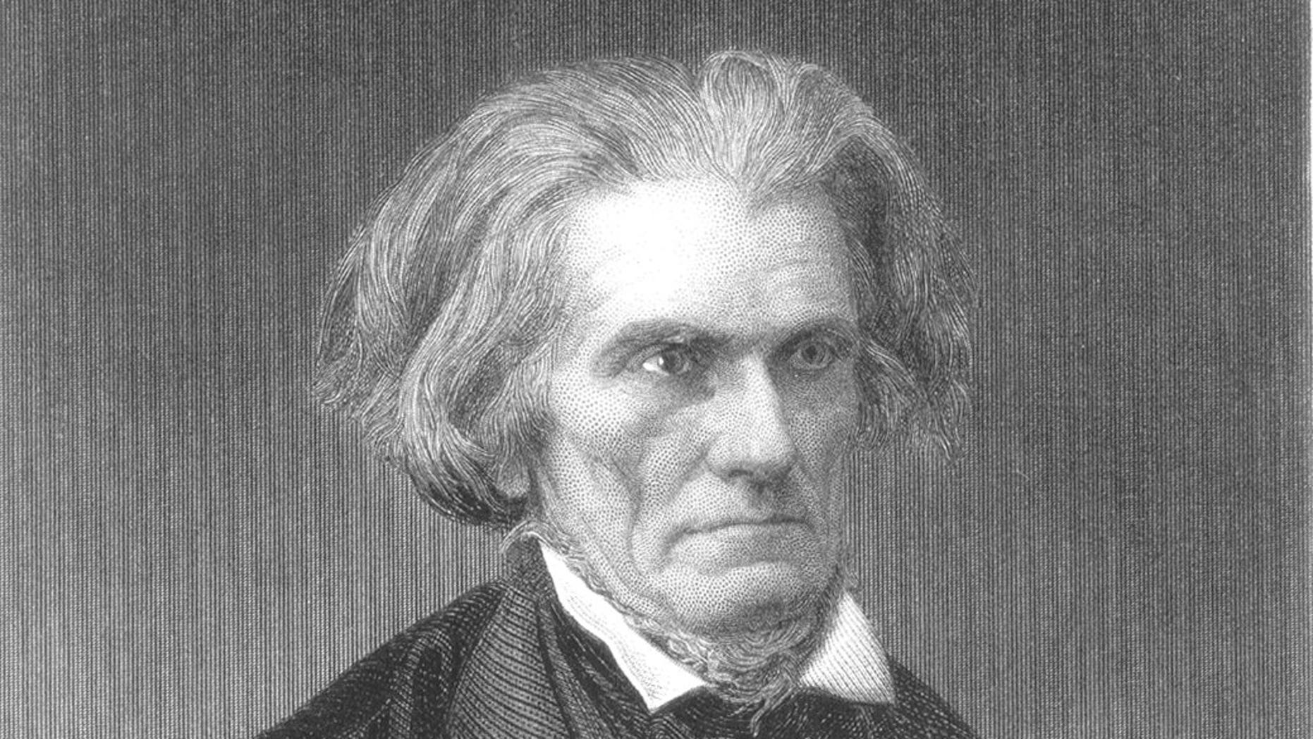 A 19th century portrait of John C. Calhoun.