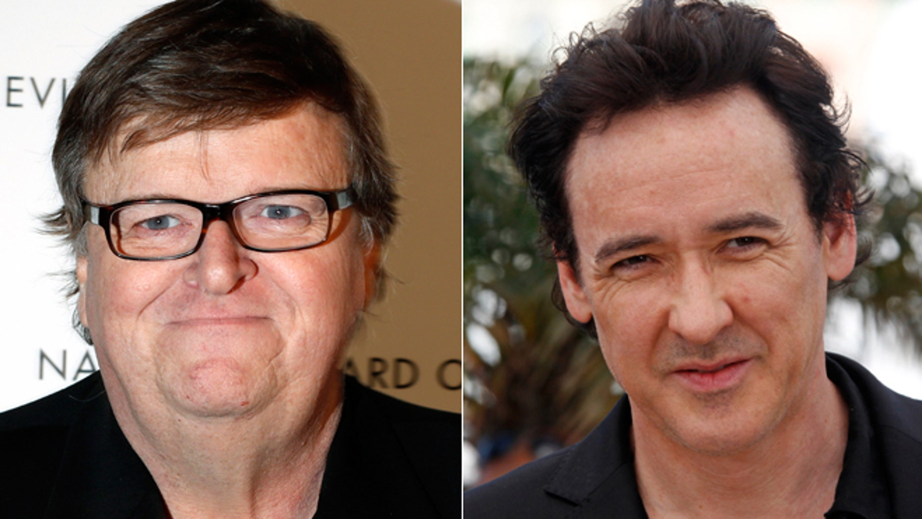 Michael Moore, left and John Cusack have both commented on the recent NSA scandal.