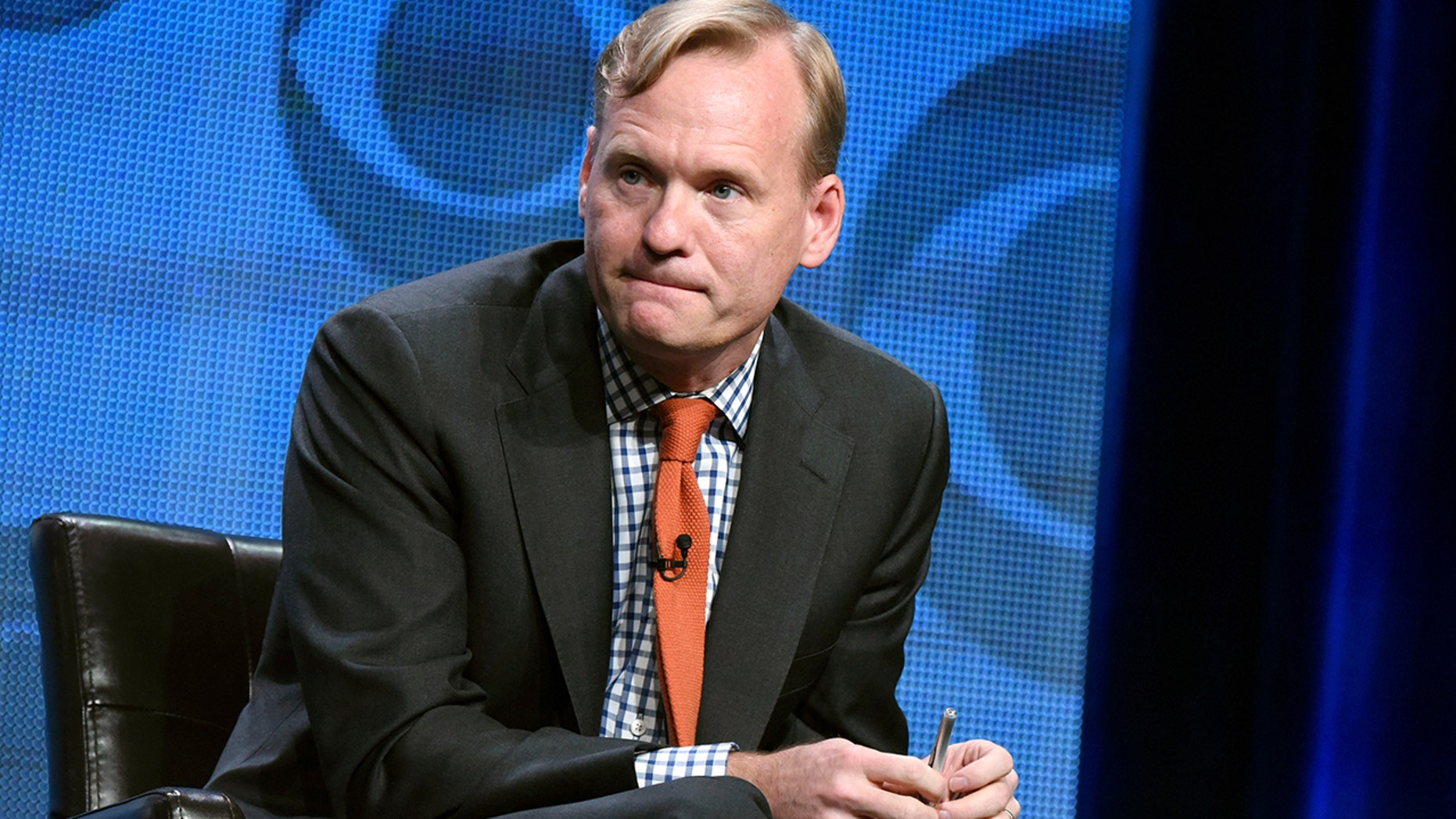 """FILE - In this Aug. 10, 2015 file photo, Political Director for CBS News, John Dickerson, participates in the CBS News panel at the CBS Summer TCA Tour in Beverly Hills, Calif.  CBS News has selected Dickerson as Charlie Rose's replacement on the """"CBS This Morning"""" program, pairing him with current anchors Gayle King and Norah O'Donnell. (Photo by Richard Shotwell/Invision/AP, File)"""