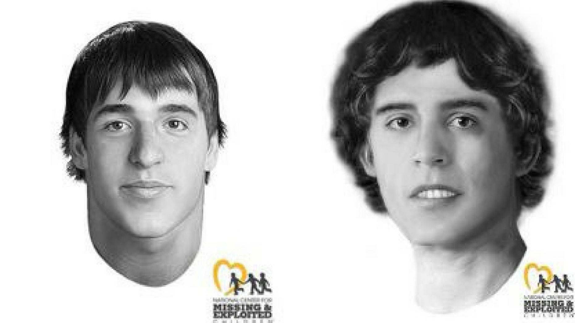 The facial reconstruction images of John Doe # 10, left, and John Doe # 13, two of John Wayne Gacy's victims.
