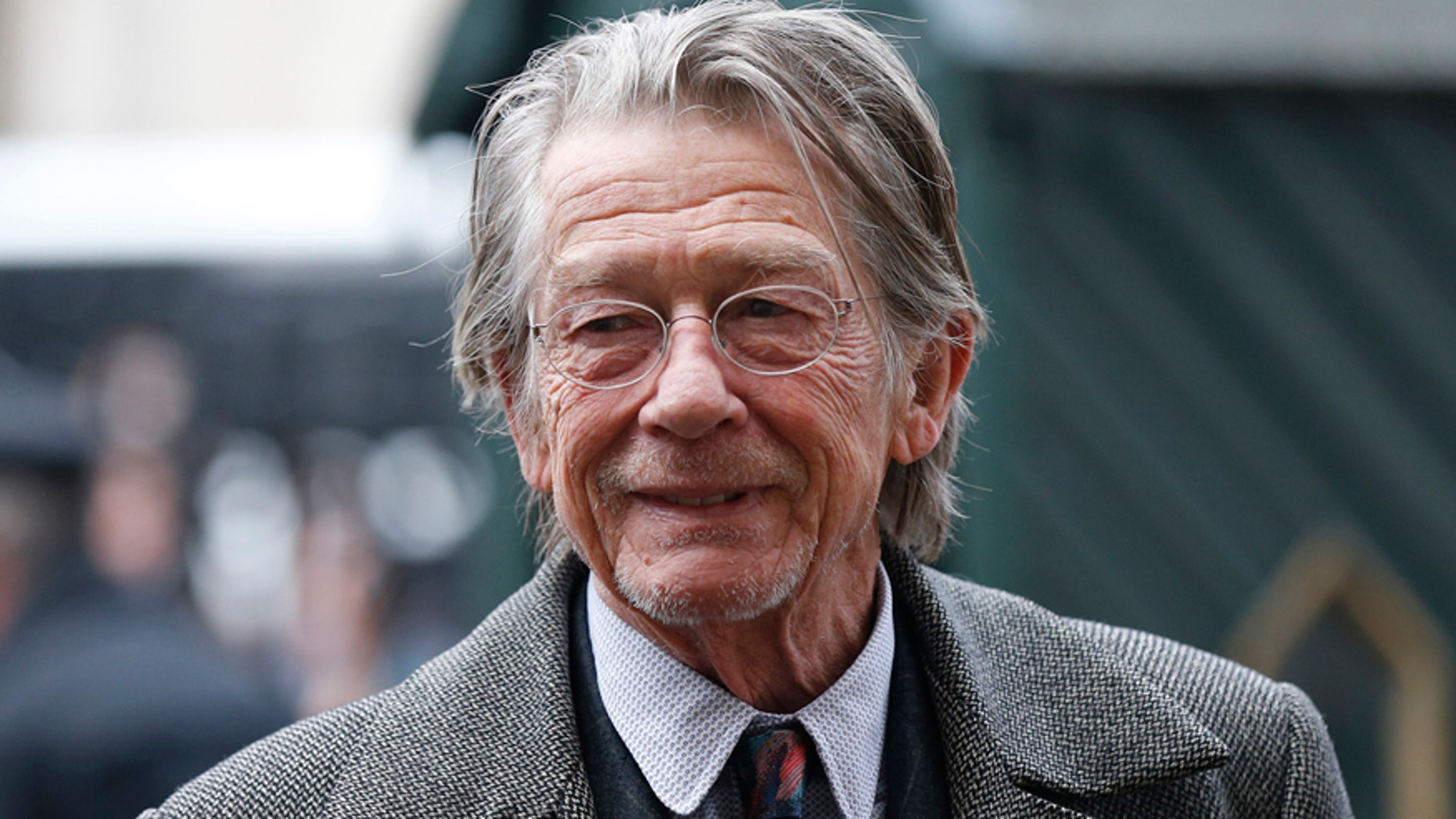 Actor John Hurt arrives for a memorial service for actor and director Richard Attenborough.