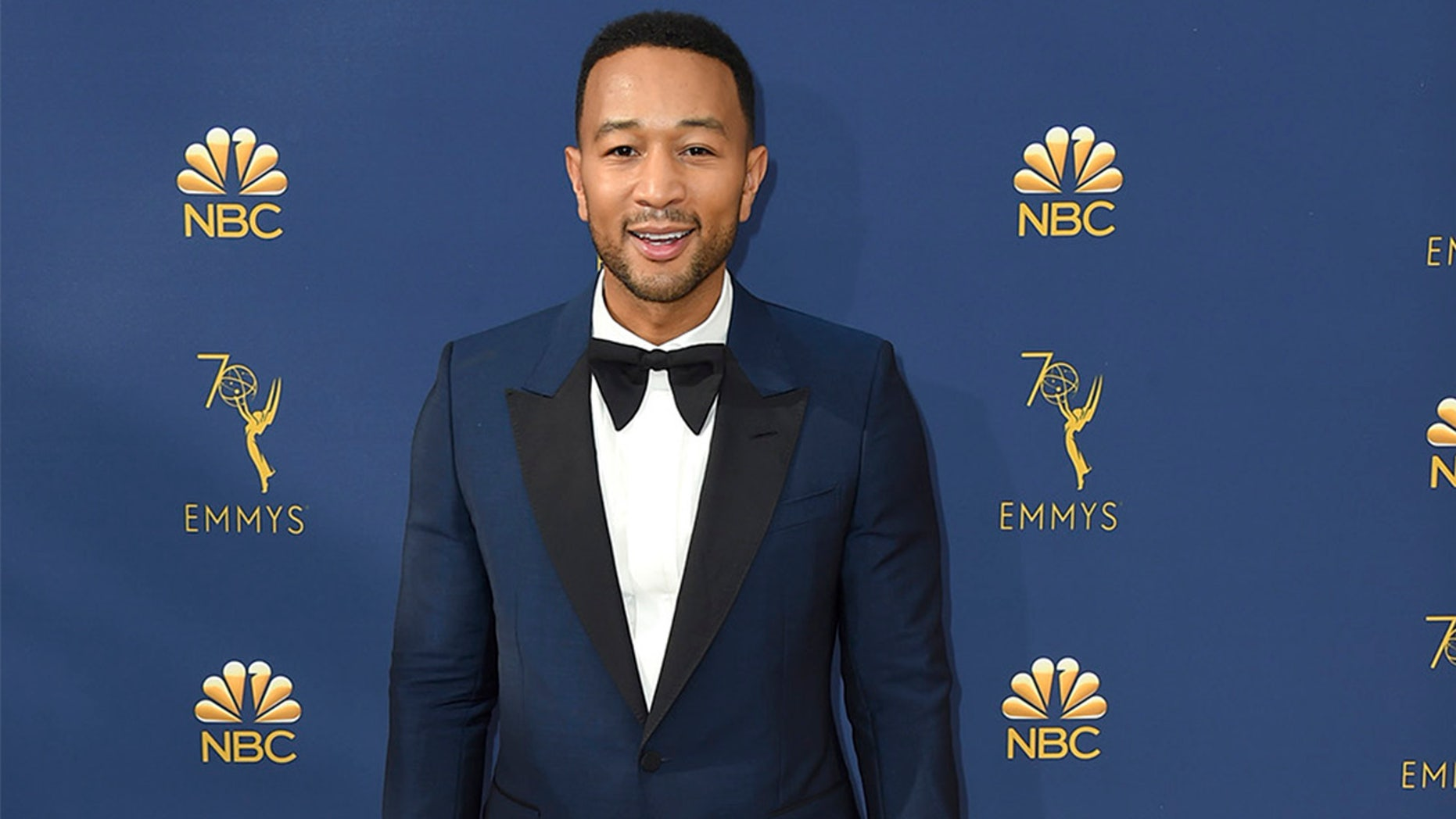 John Legend arrives at the 70th Primetime Emmy Awards on Monday, Sept. 17, 2018, at the Microsoft Theater in Los Angeles. (Photo by Jordan Strauss/Invision/AP)