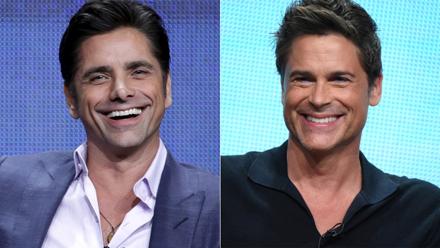 John Stamos, left and Rob Lowe.