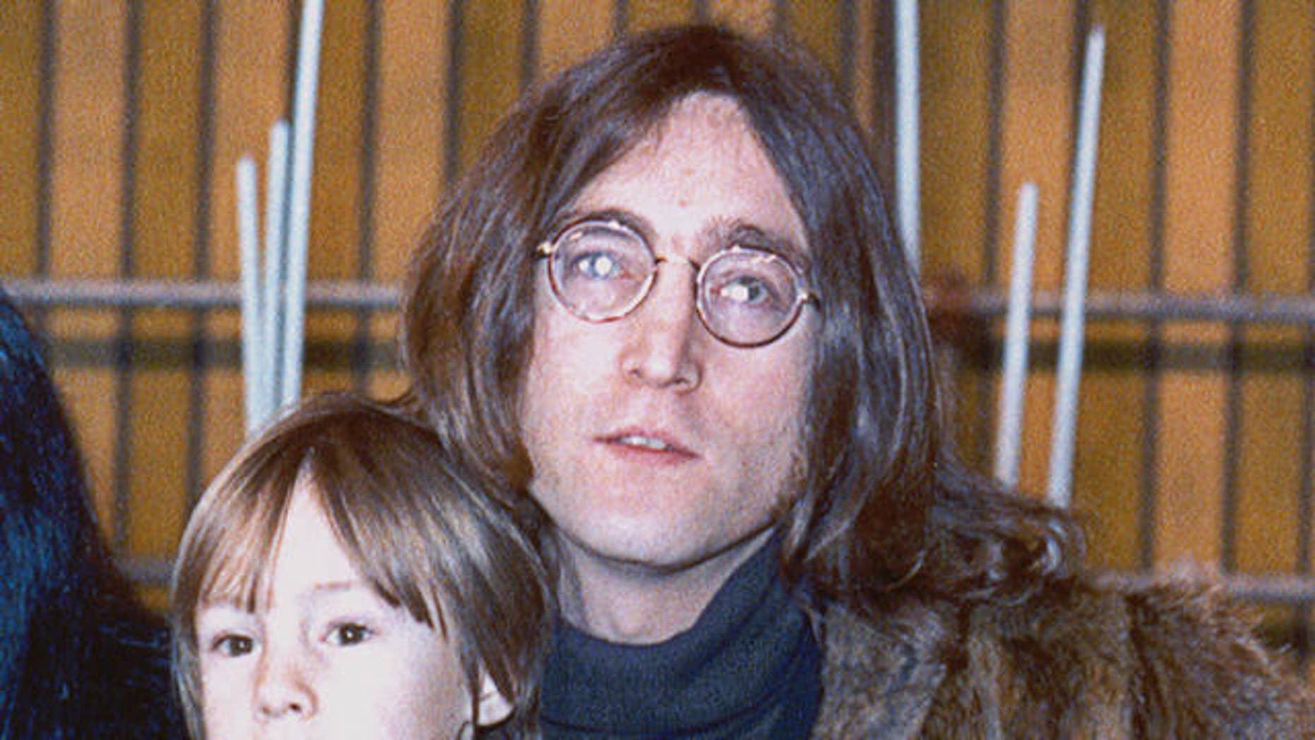 John and Julian Lennon in 1968. (AP)